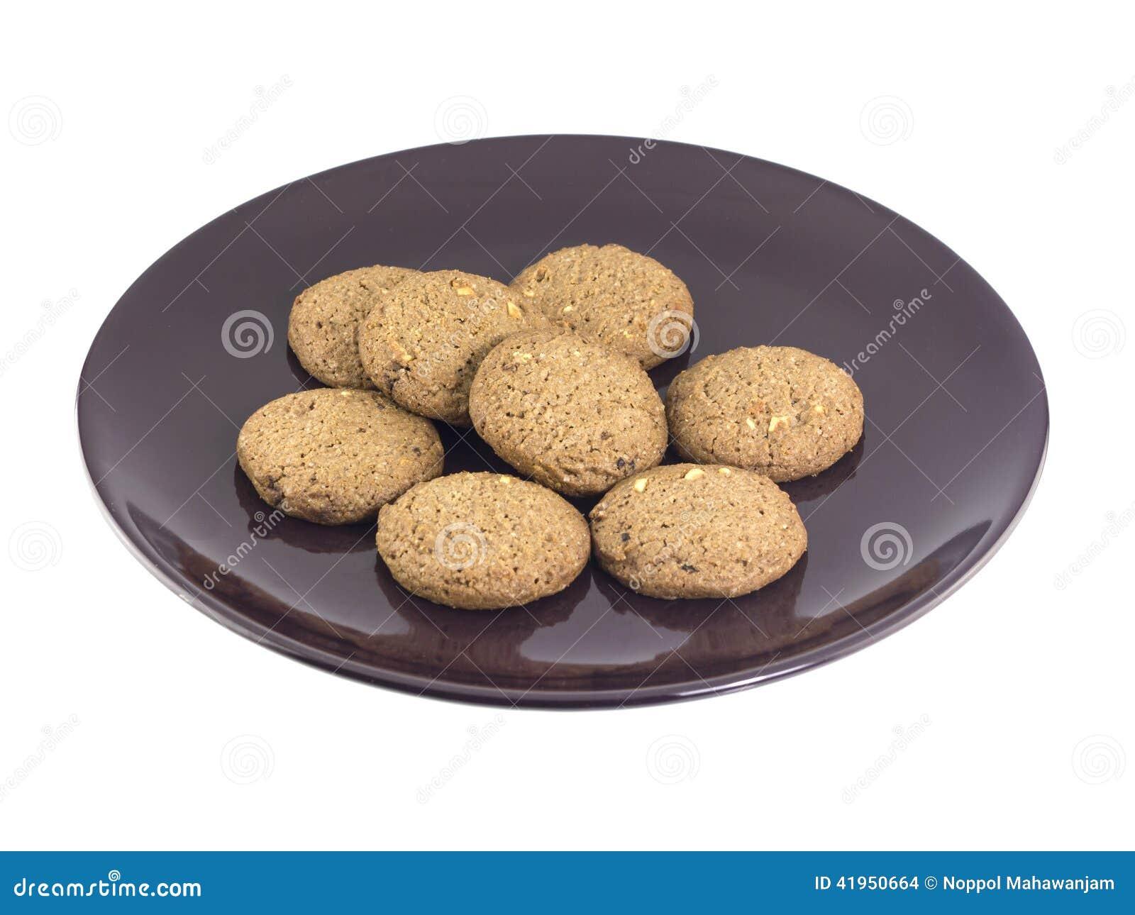 Czekoladowego układu scalonego masła ciastka