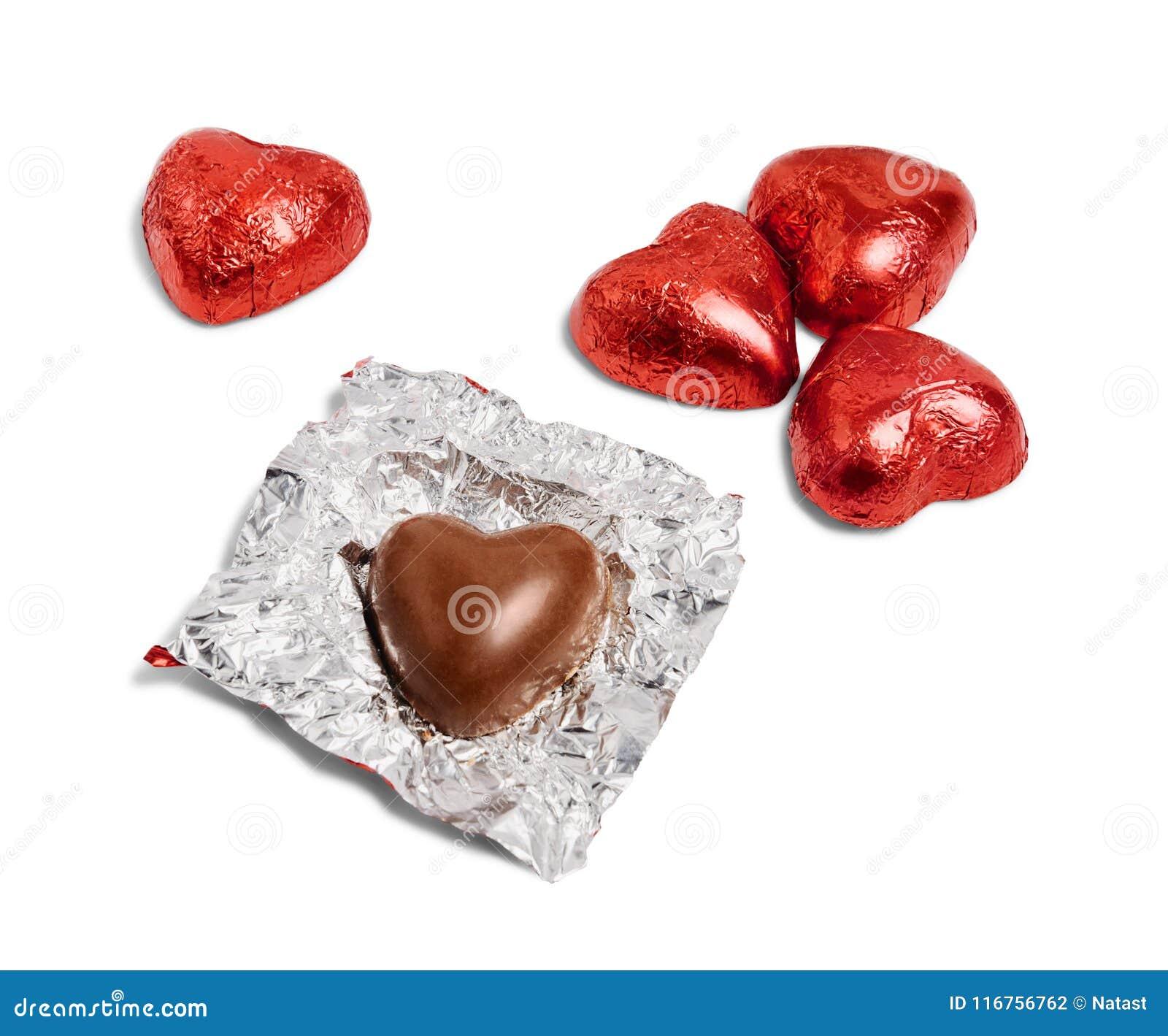 Czekoladowi serce cukierki