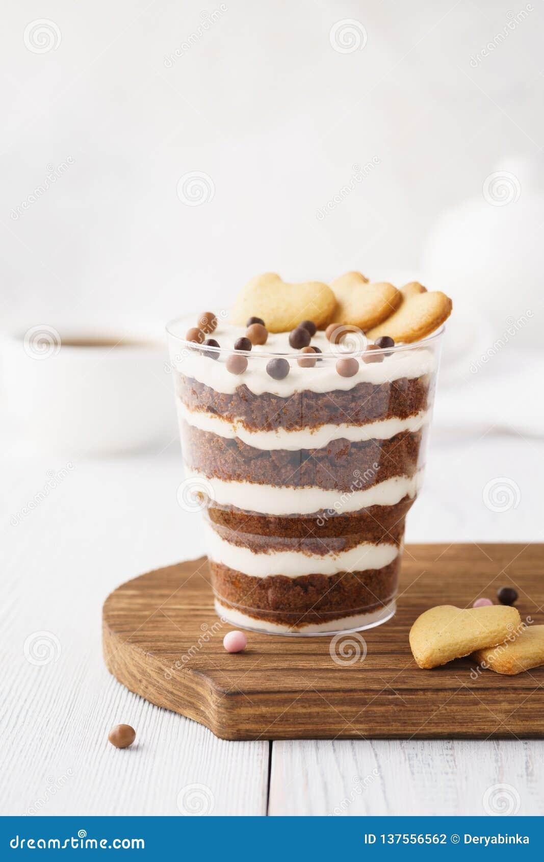 Czekoladowy błahostka tort Indywidualny deser w szkle