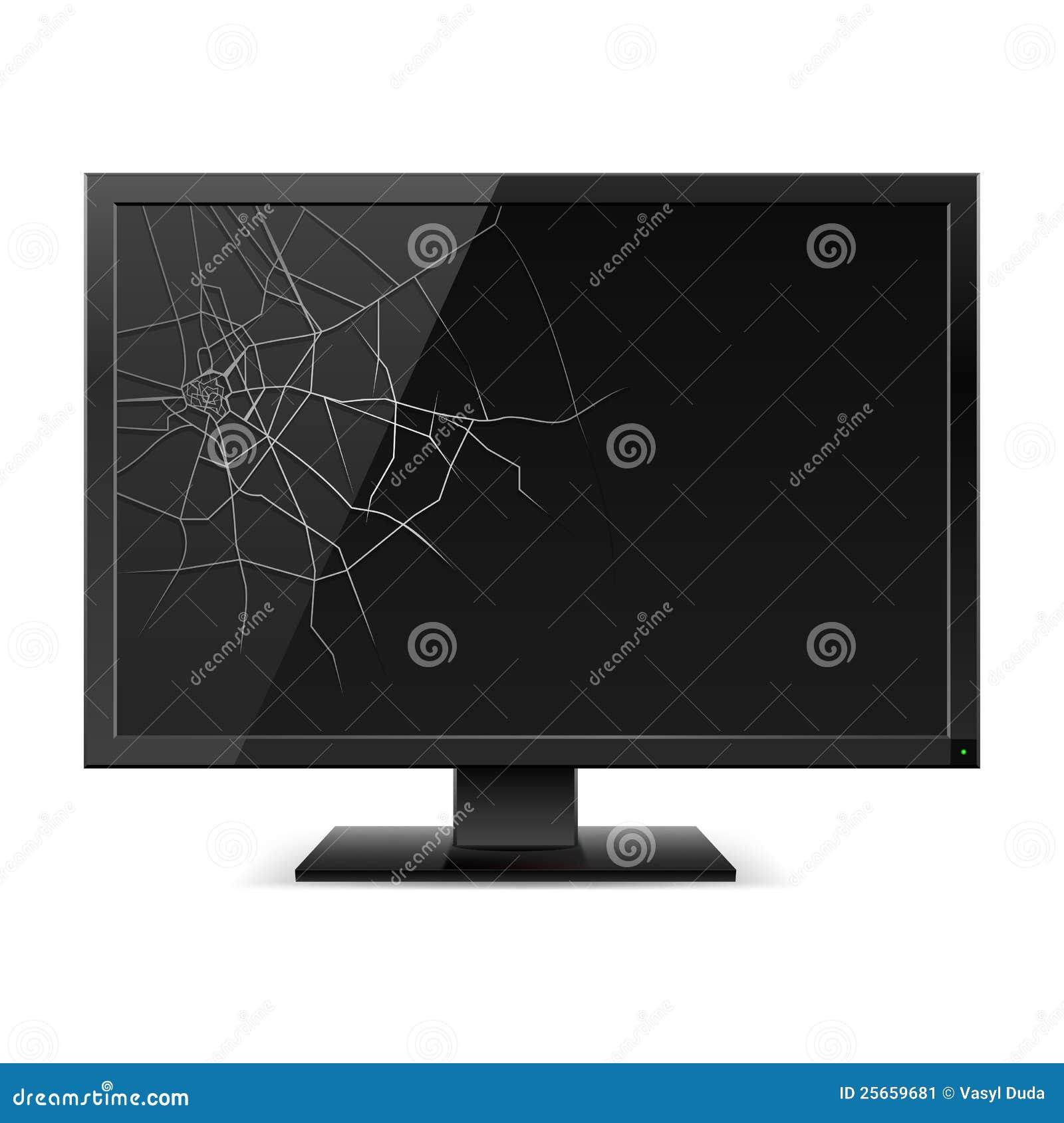 Czerń łamający monitor