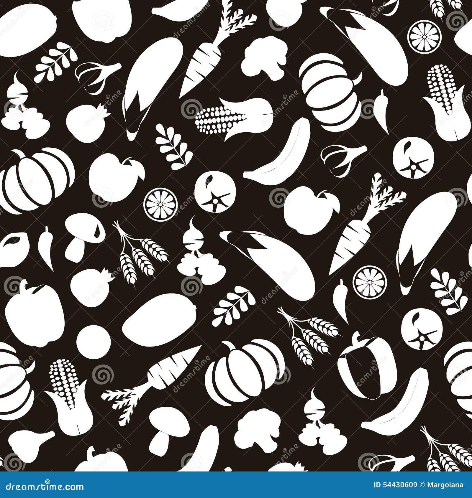 Czerń i Wihte tło z Zdrowym jedzeniem, warzywami i fru,