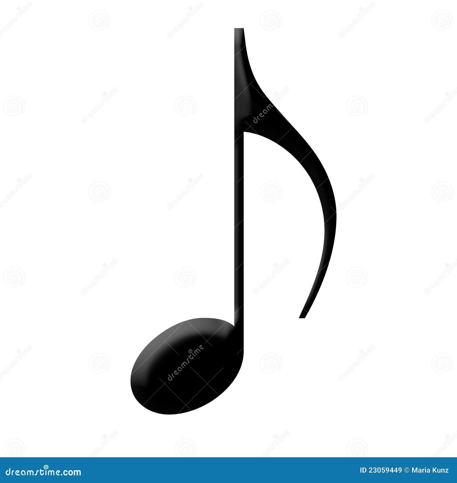 Czerń odizolowywająca muzyki notatka