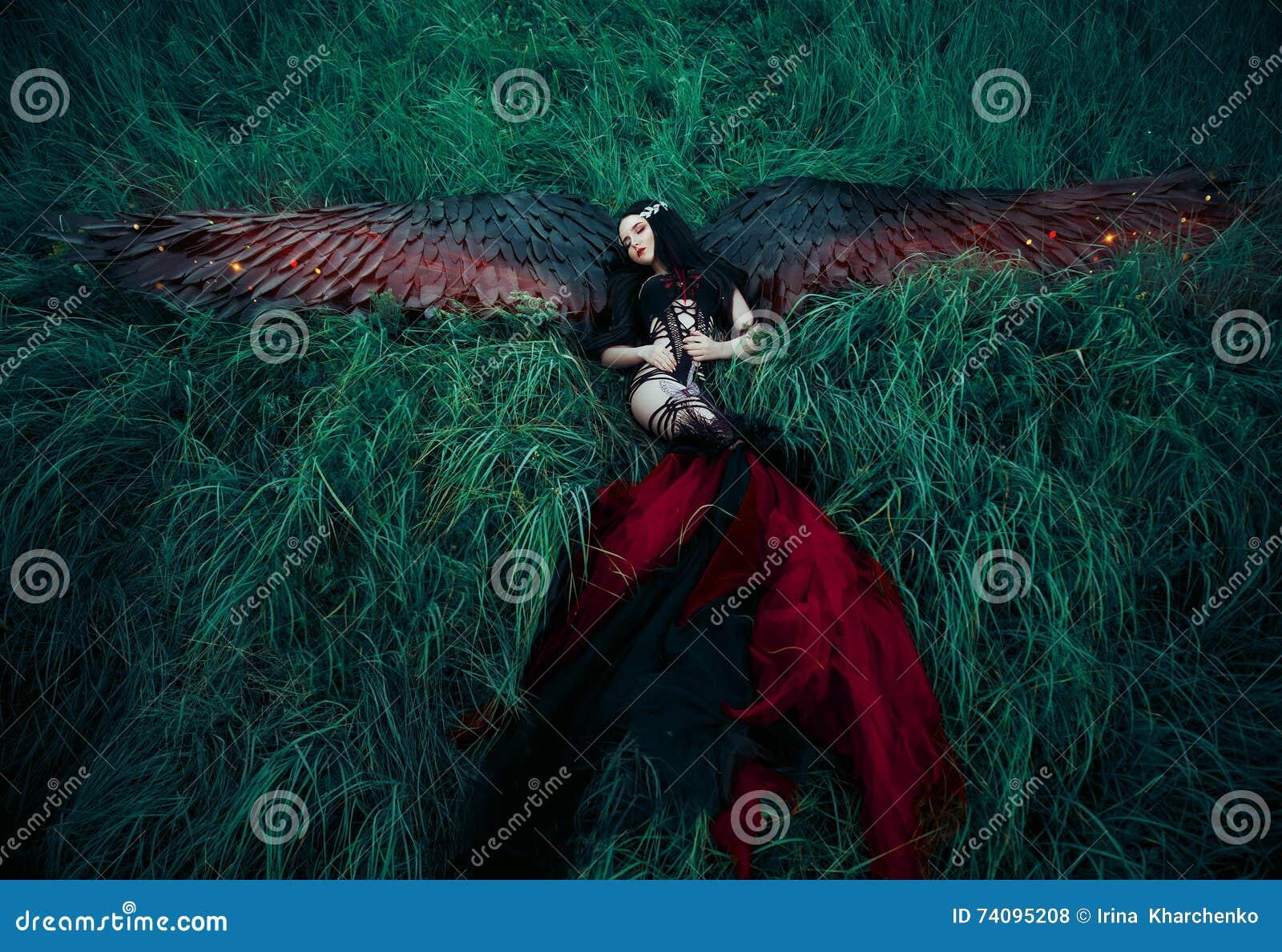 Czerń spadać anioł