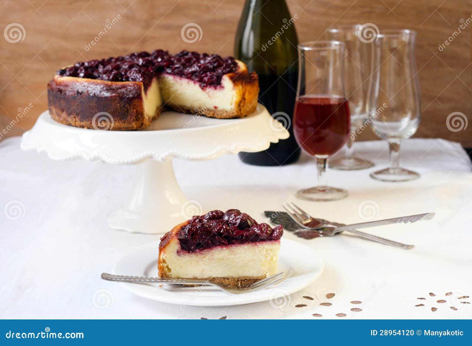 Czereśniowy cheesecake