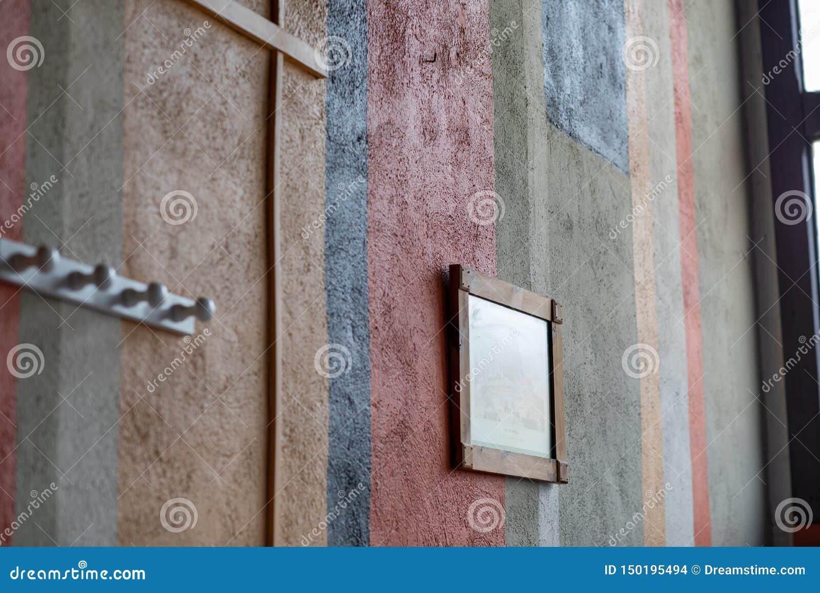 Czerep ściana z różnymi kolorami