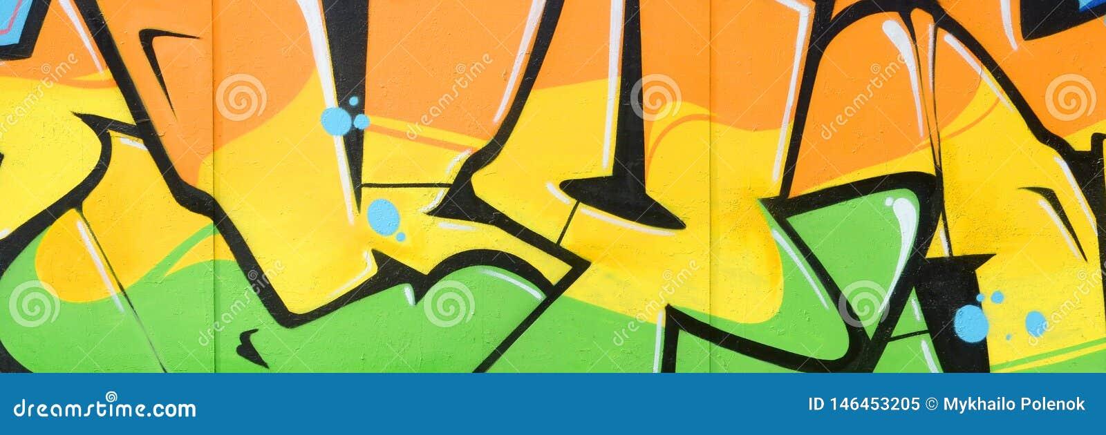 Czerep barwioni uliczni sztuka graffiti obrazy z konturami i podcieniowanie zamkni?ty w g?r?
