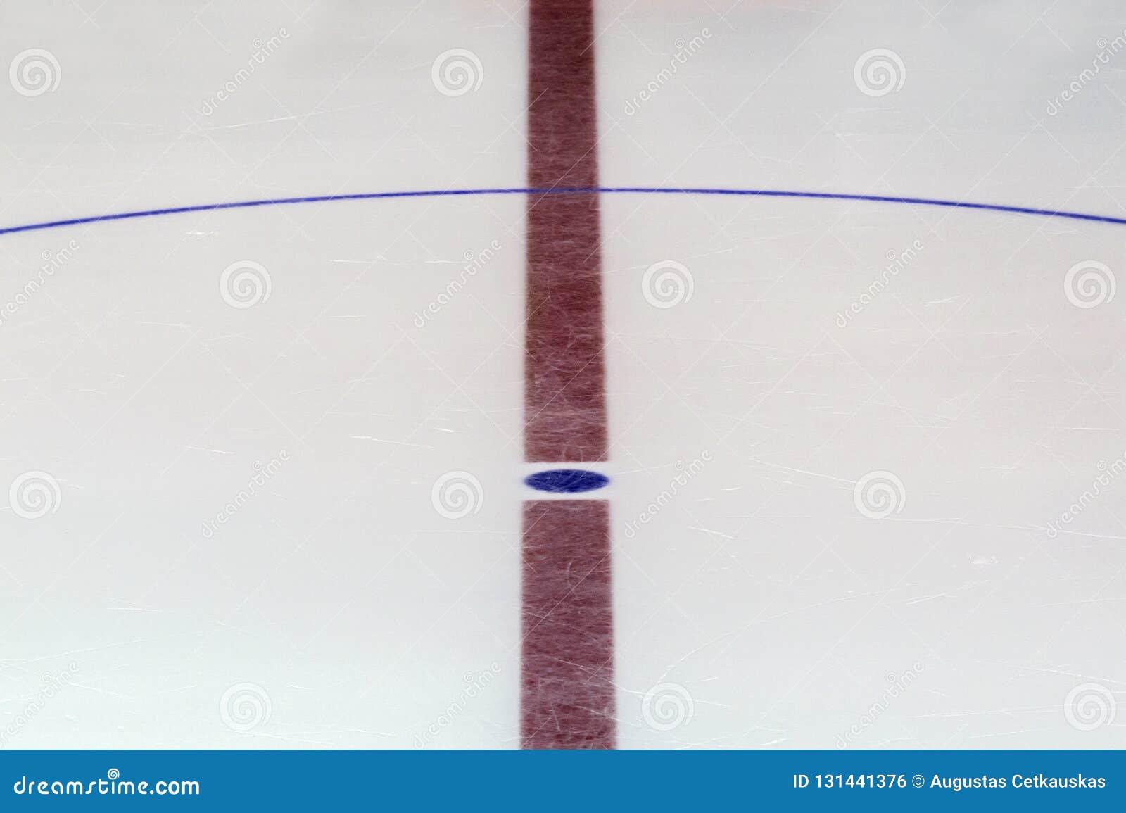 Czerep lodowego hokeja lodowisko z środkowym okręgiem Pojęcie, hokej
