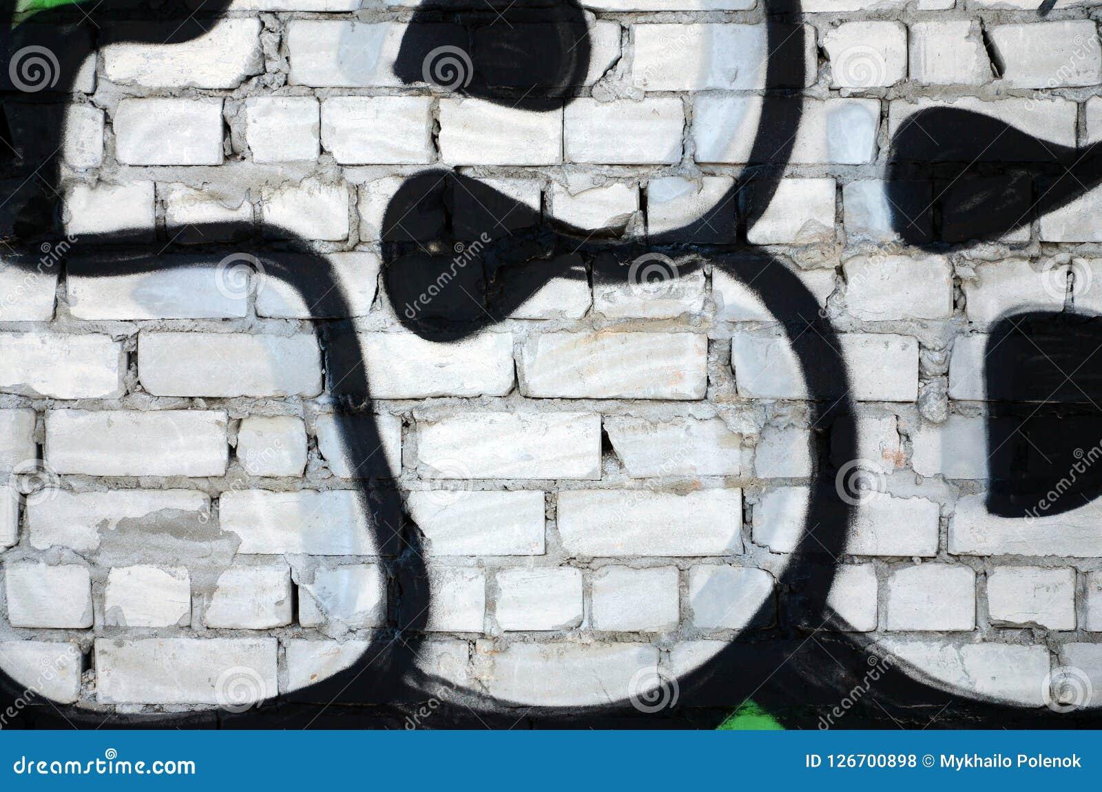 Czerep stara ściana z kolorowymi graffiti obrazami Zdjęcia Royalty Free