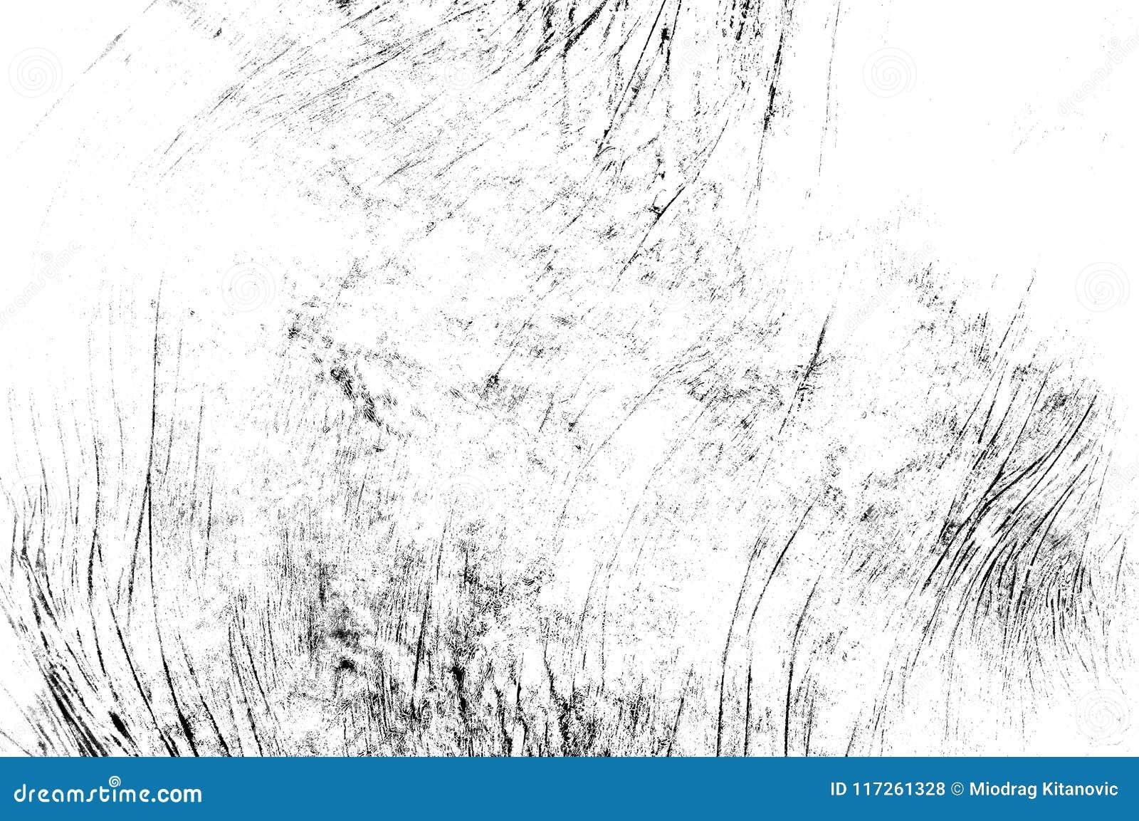 Czerni porysowana tekstura na białym tle