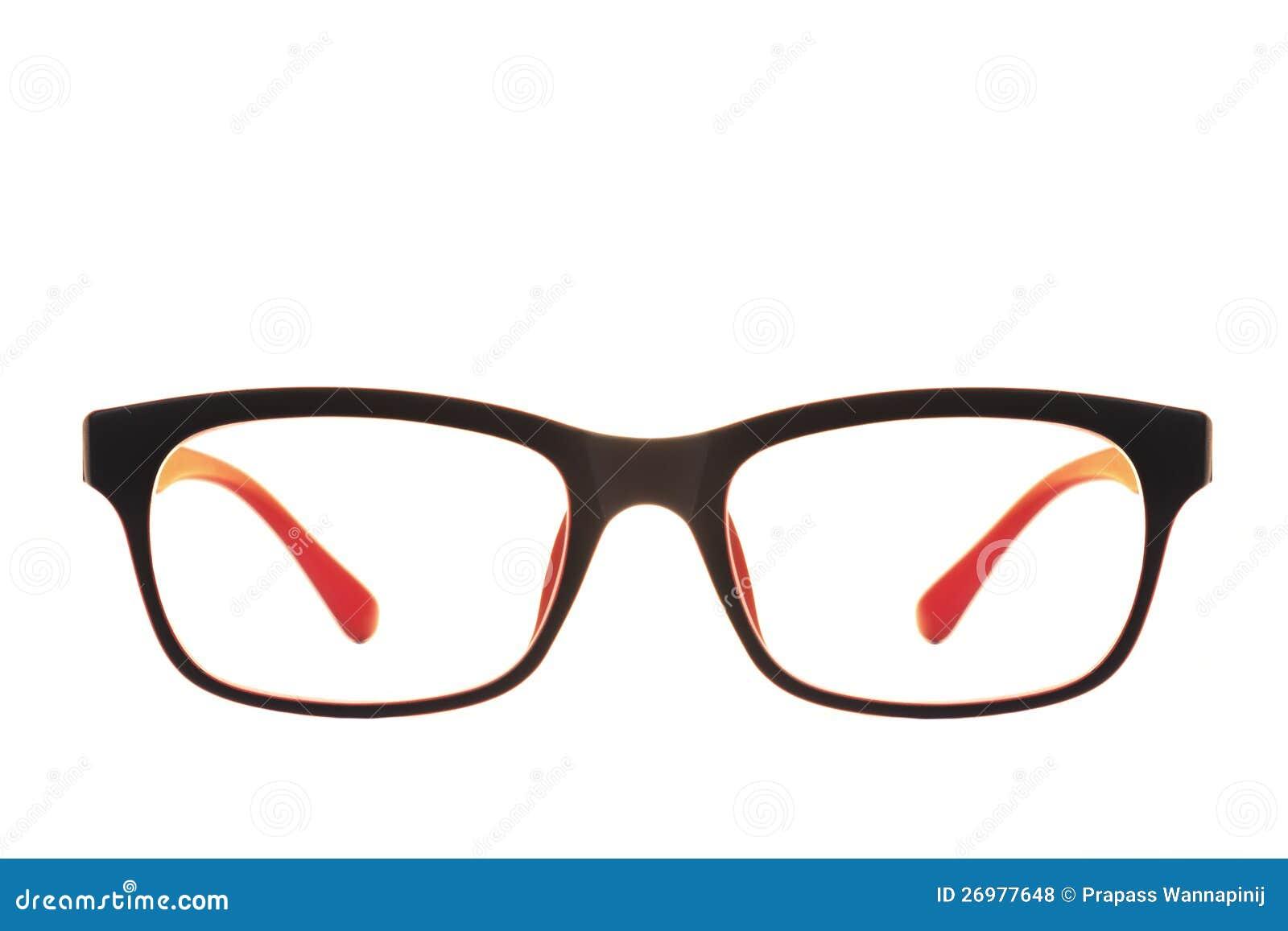 Czerwieni i czerń nowożytna moda przygląda się szkła odizolowywających