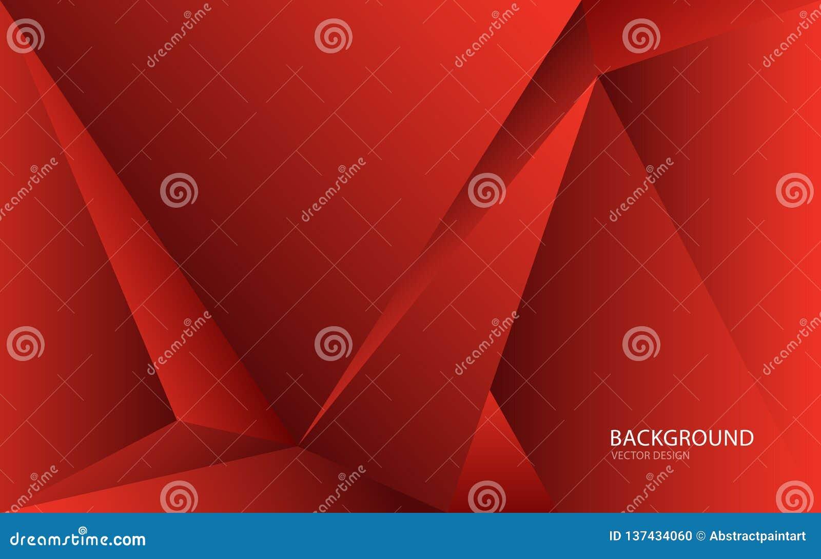 Czerwona abstrakcjonistyczna tło wektoru ilustracja wallah Sieć sztandar pokrywa Karta struktura wally Ulotka