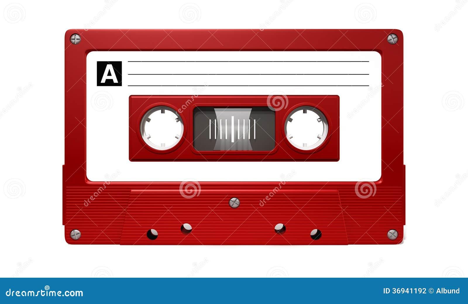 Czerwona Audio kasety taśma