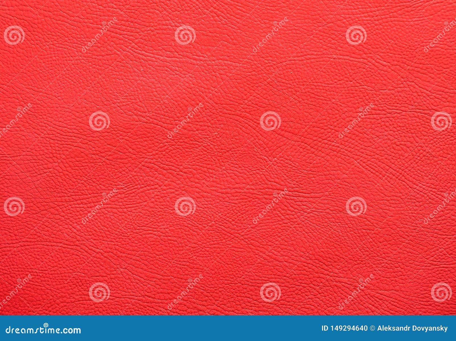 Czerwona faux sk?ry tekstura