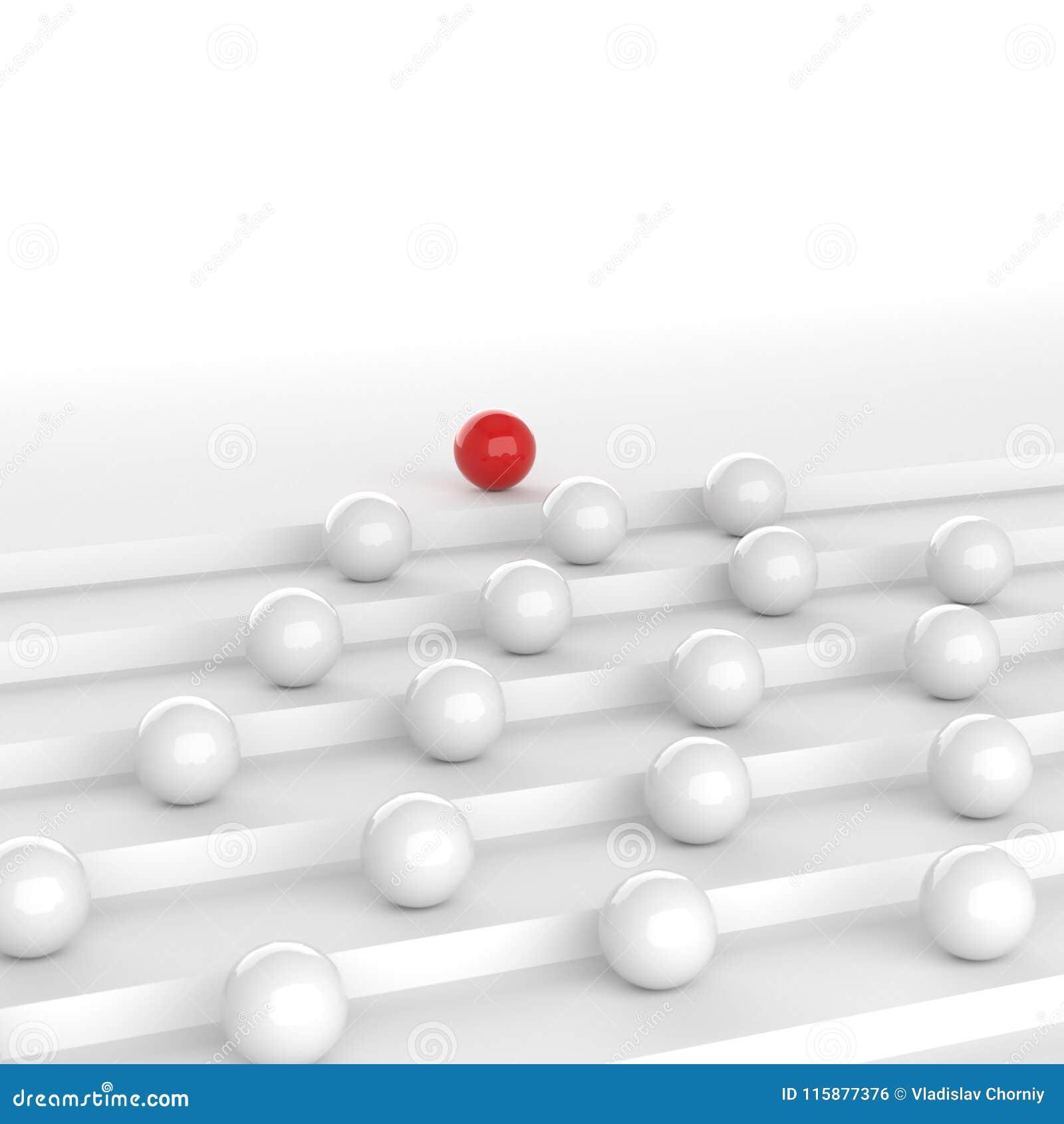 Czerwona lider piłka