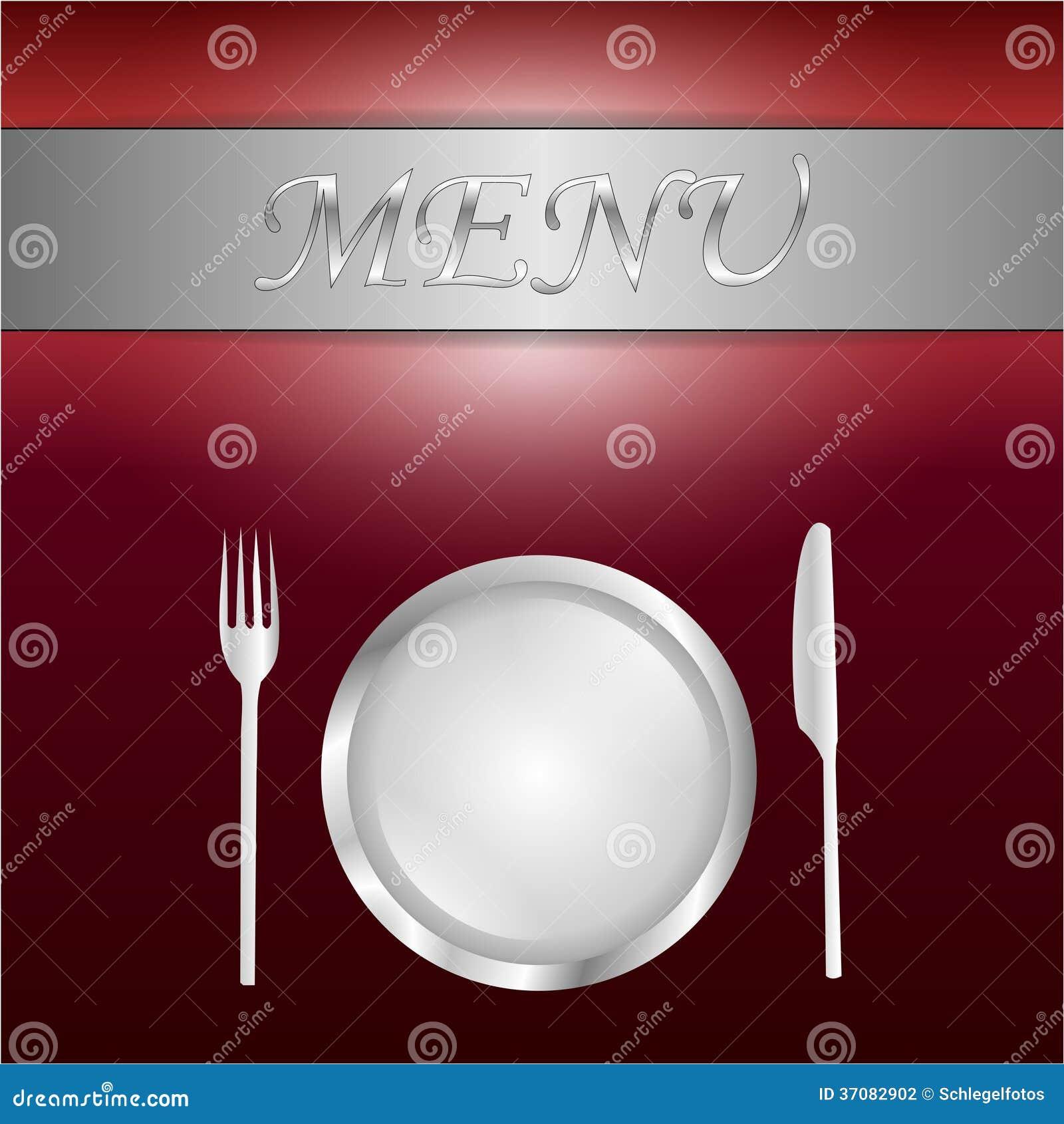 Download Czerwona menu karta ilustracji. Ilustracja złożonej z restauracja - 37082902