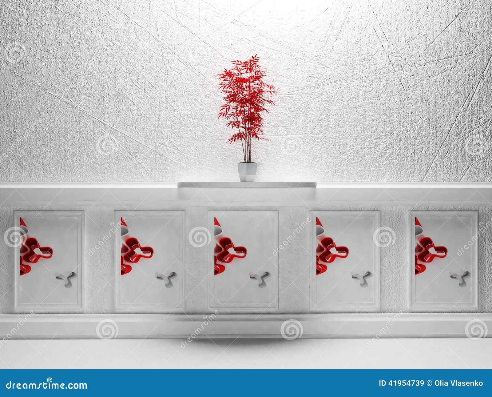 Czerwona roślina
