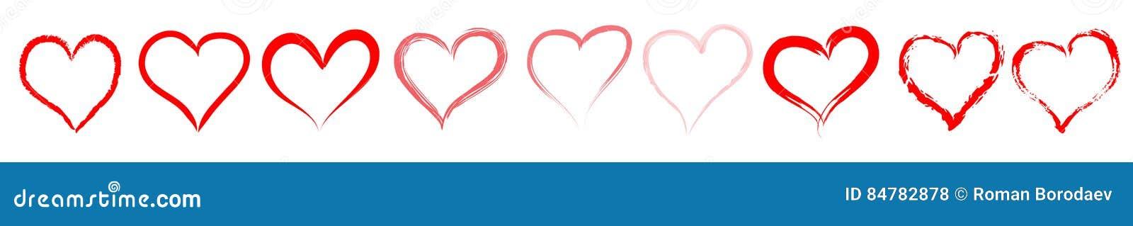 Czerwona serce linia, divider/