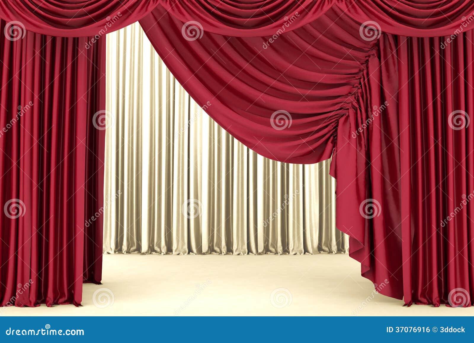 Download Czerwona Teatr Zasłona, Tło Ilustracji - Ilustracja złożonej z film, eventide: 37076916