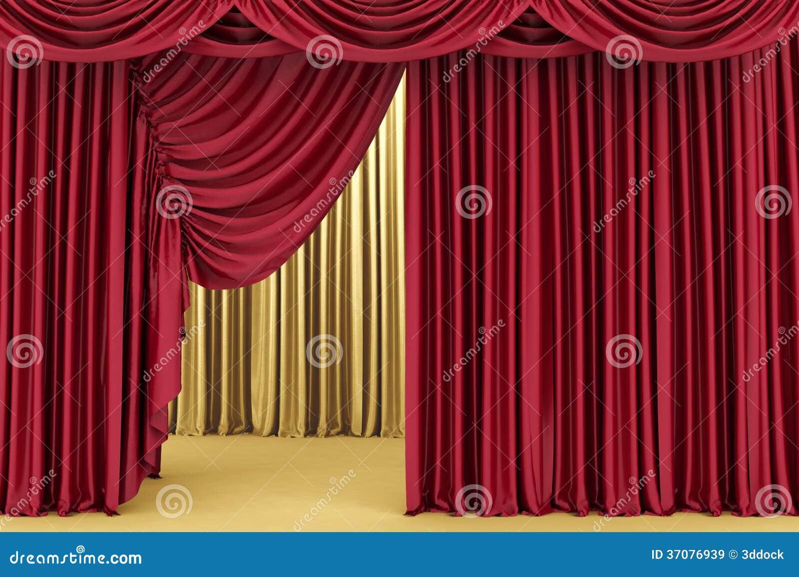 Download Czerwona Teatr Zasłona, Tło Ilustracji - Ilustracja złożonej z ilustracje, kino: 37076939
