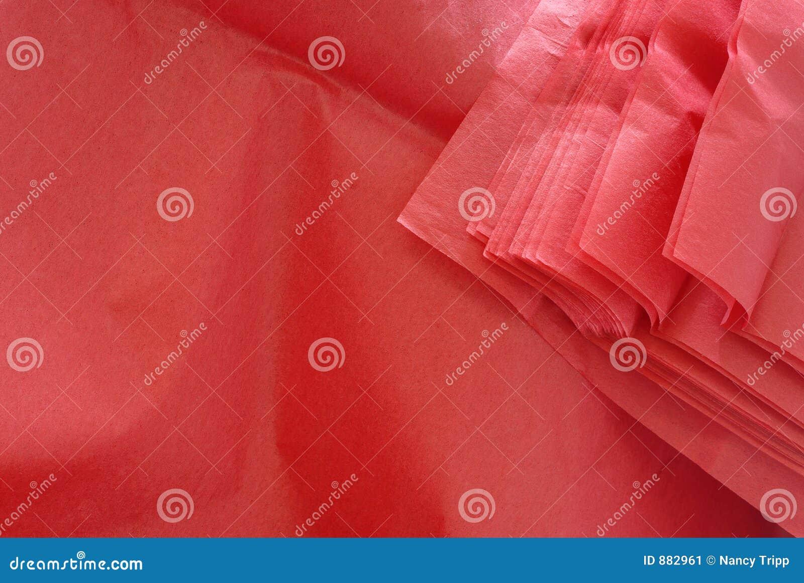 Czerwona tkanki papierowej