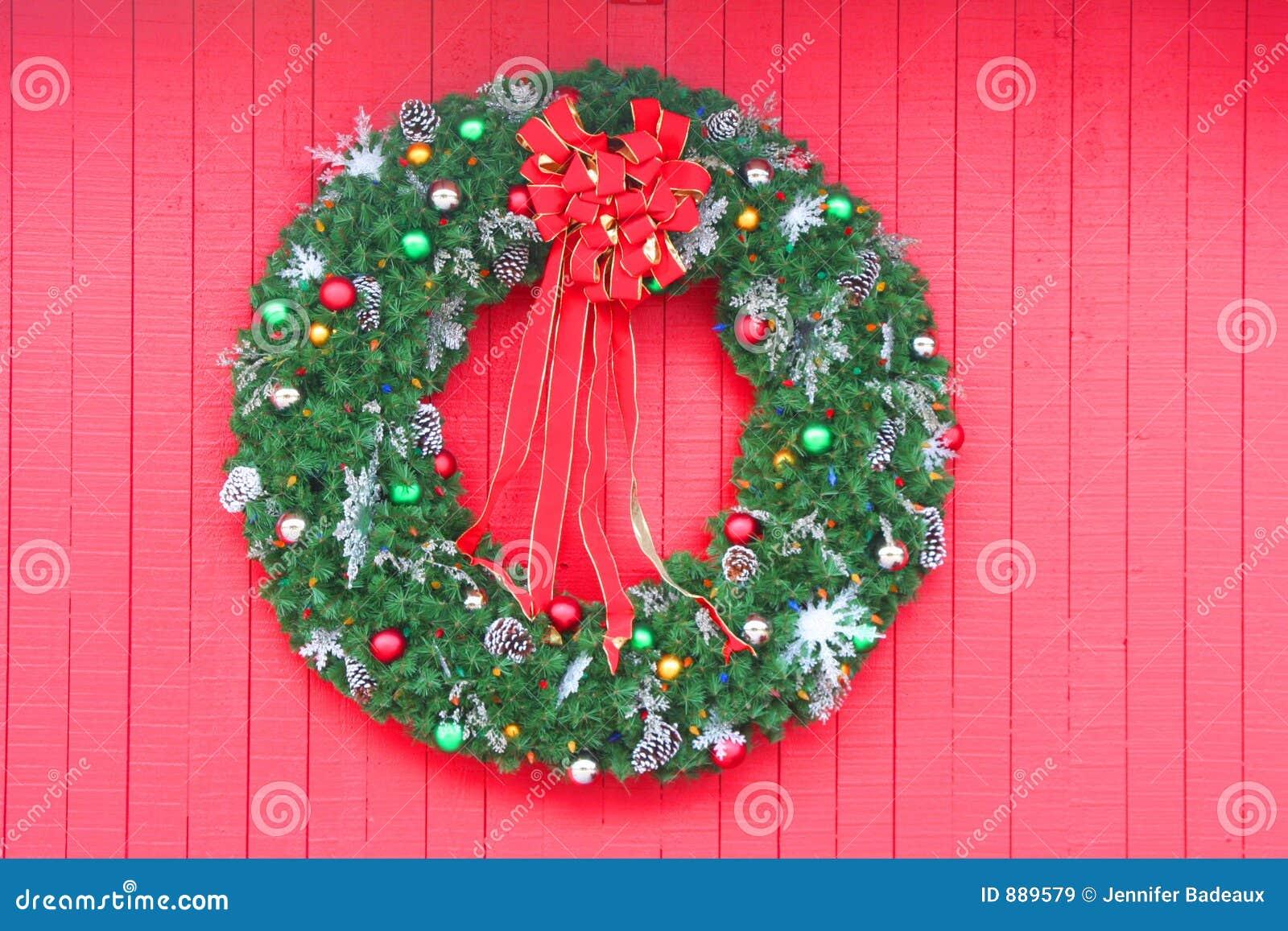 Czerwone świątecznej wianek