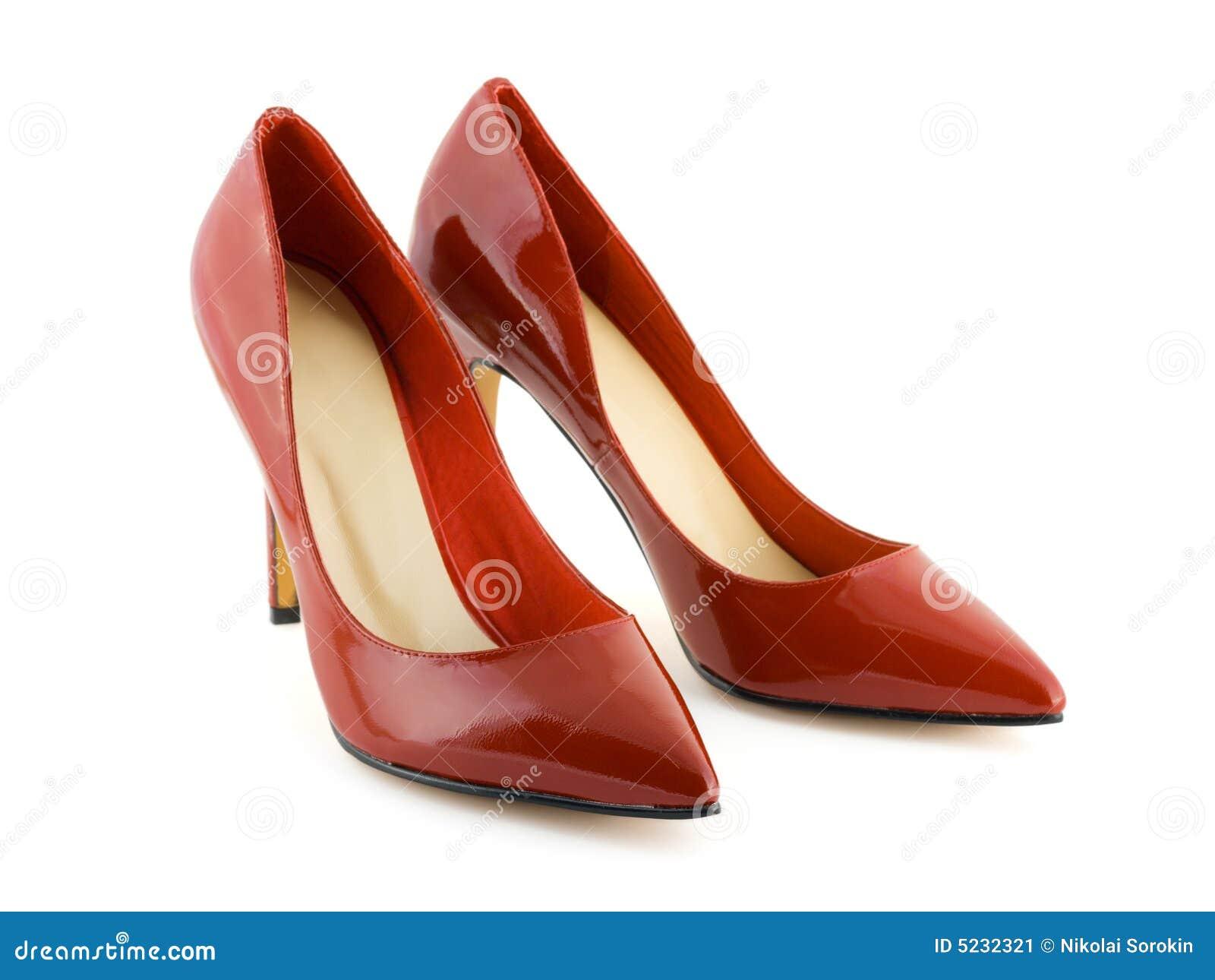 Czerwone buty kobiet