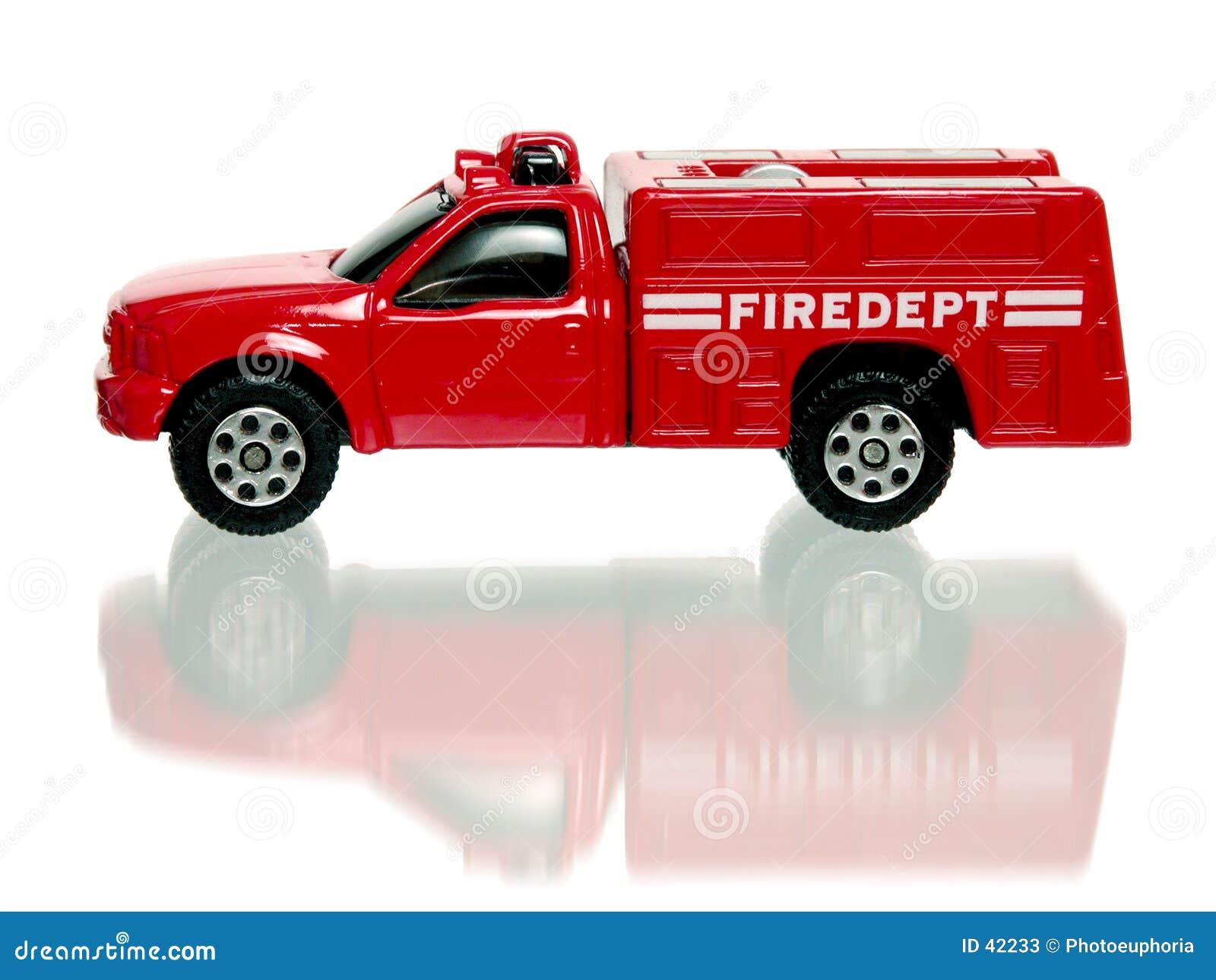 Czerwone firetruck zabawka