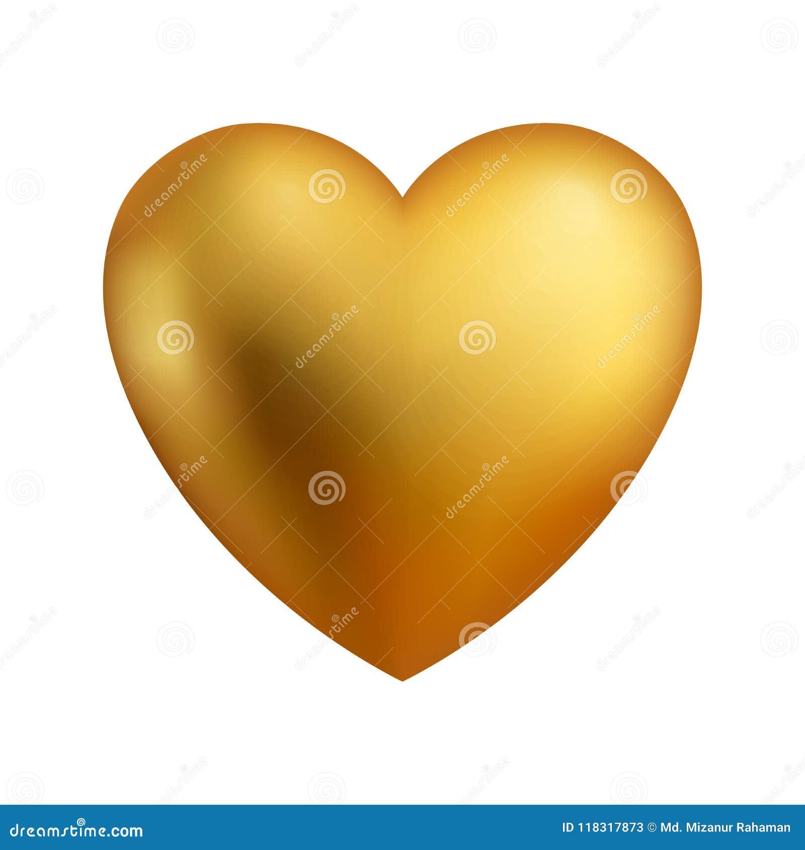 Czerwone glansowane kierowe wektorowe ilustracje Serce jako symbol miłość