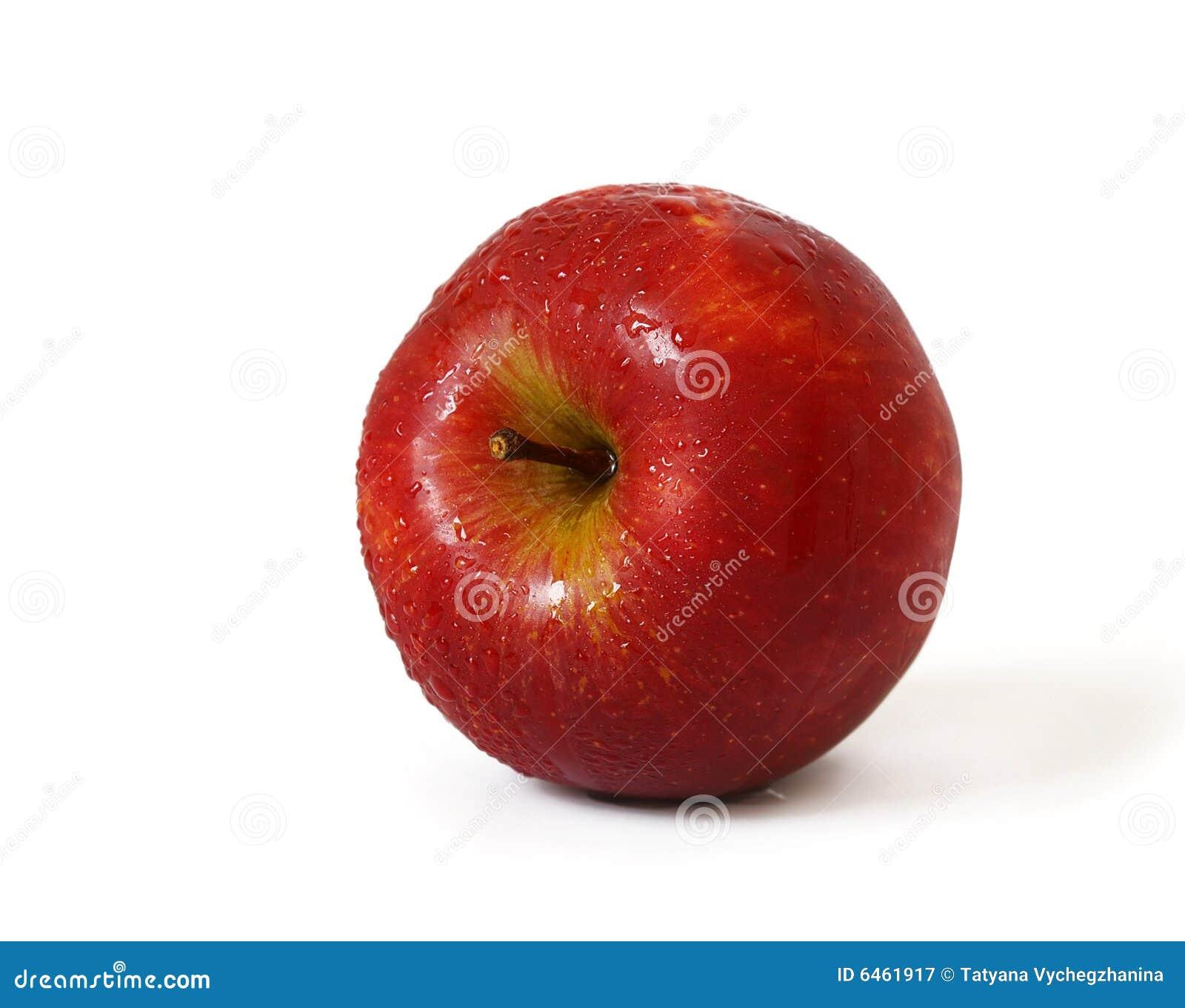 Czerwone jabłko odizolowana