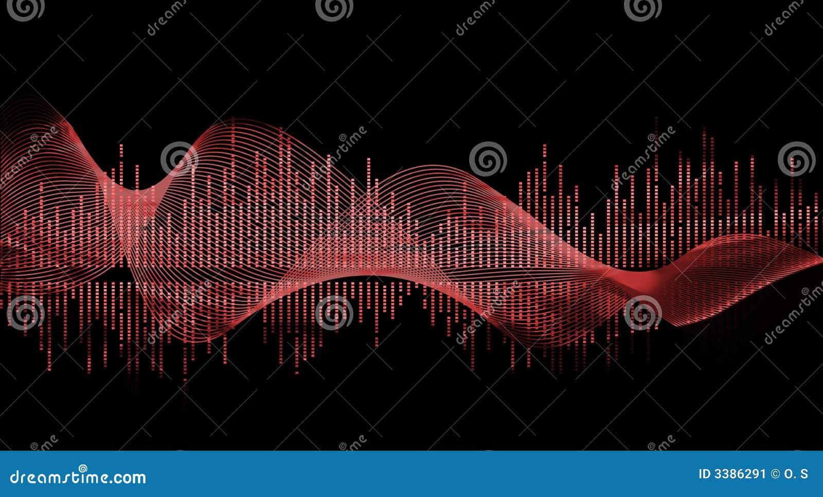 Czerwone muzyczna fale