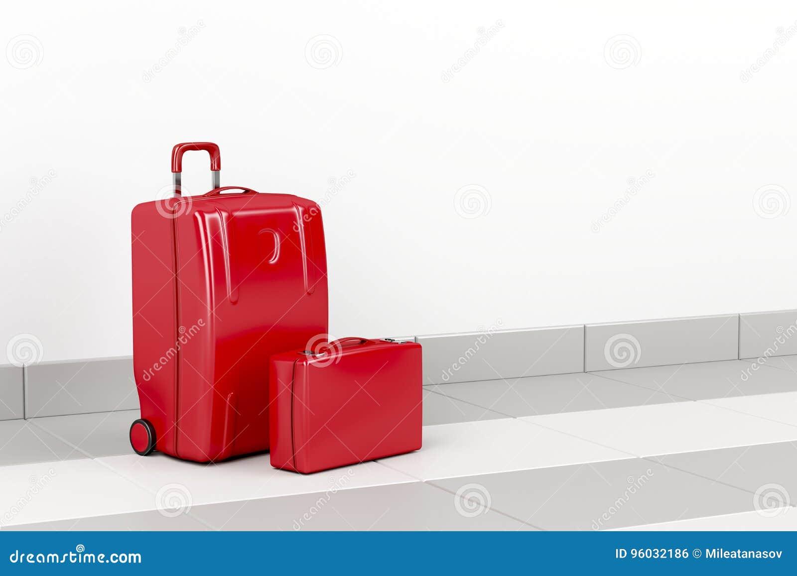 Czerwone podróży torby