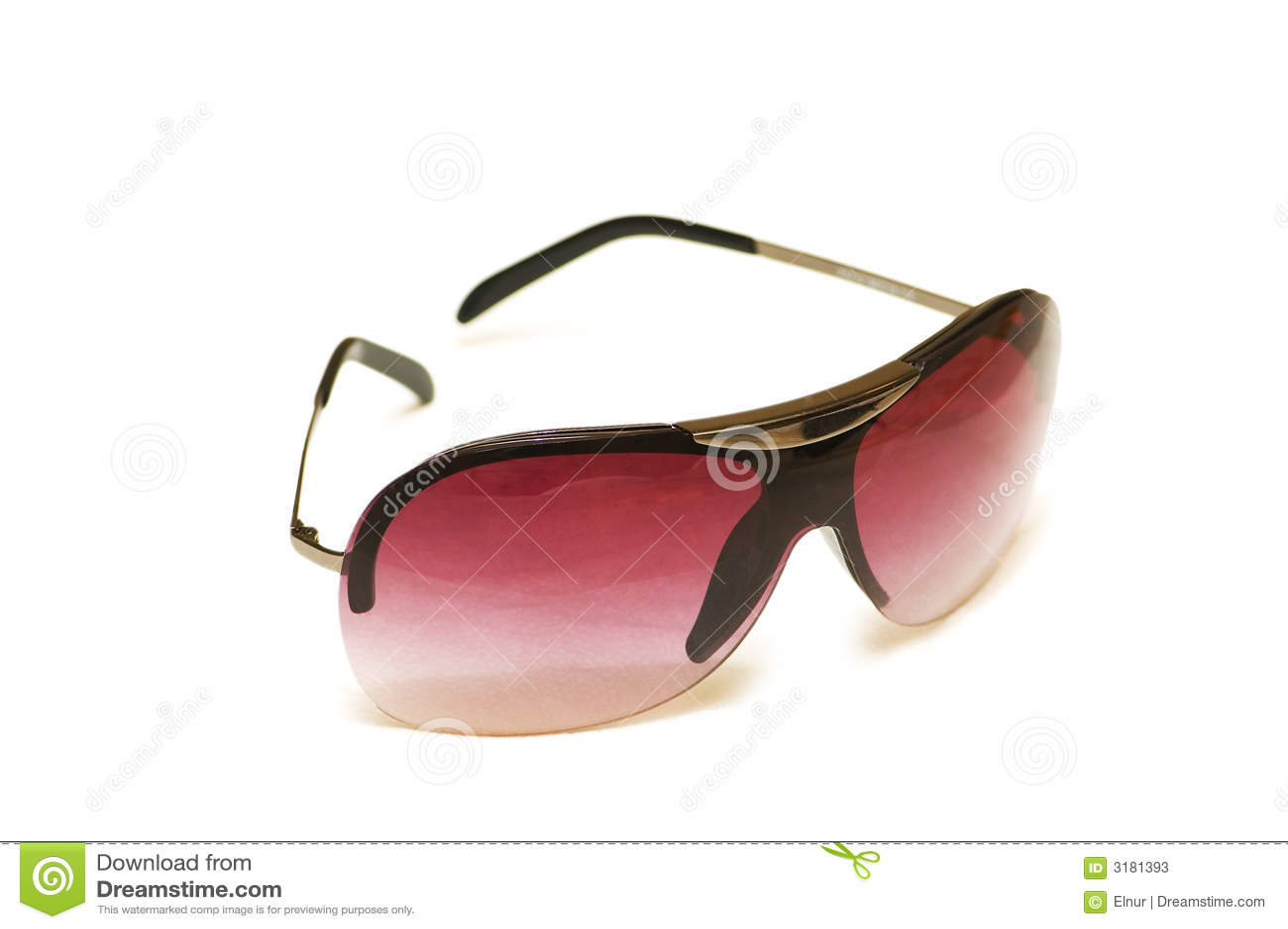 Czerwone pojedyncze okulary przeciwsłoneczne