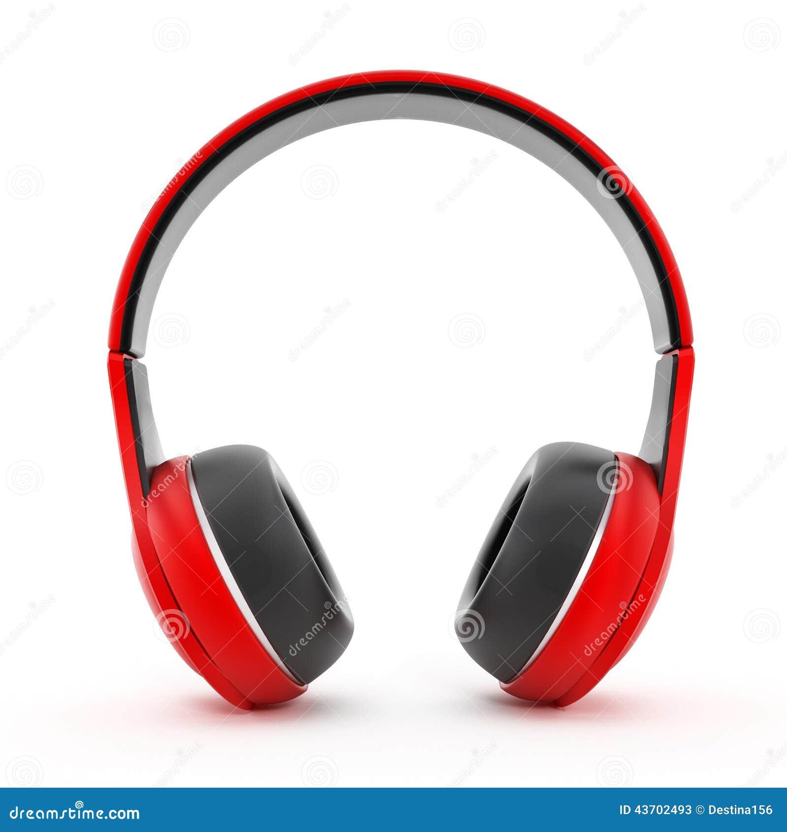 Czerwone słuchawki
