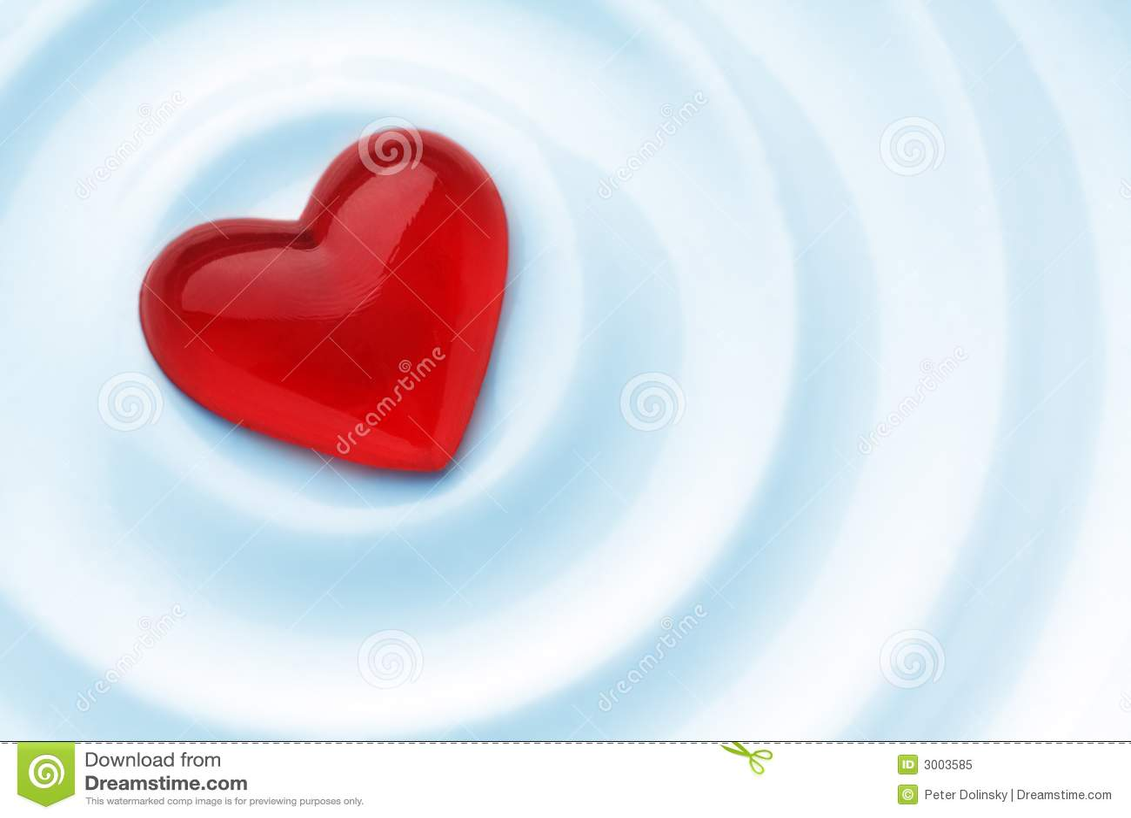 Czerwone serce miłości