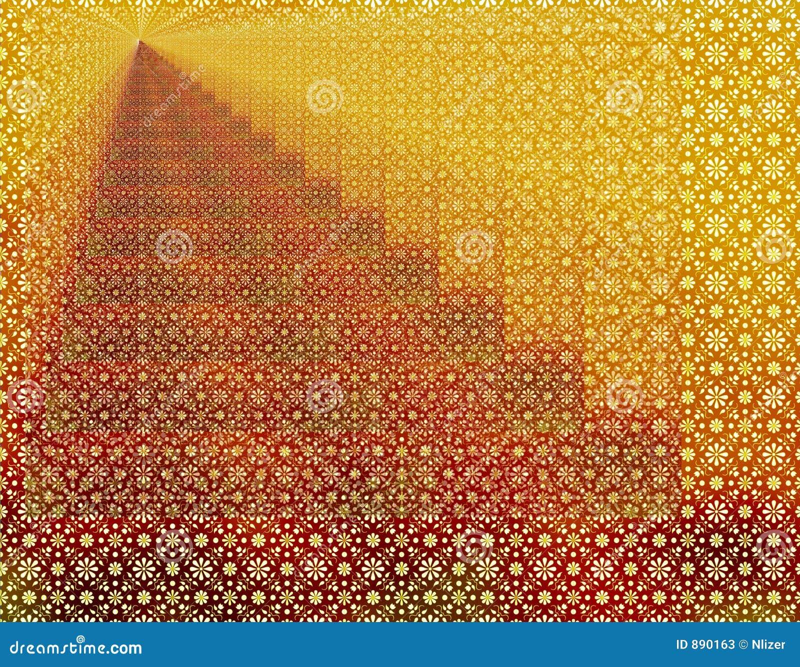 Czerwone tło nieskończoność geometrycznej tapeta złota