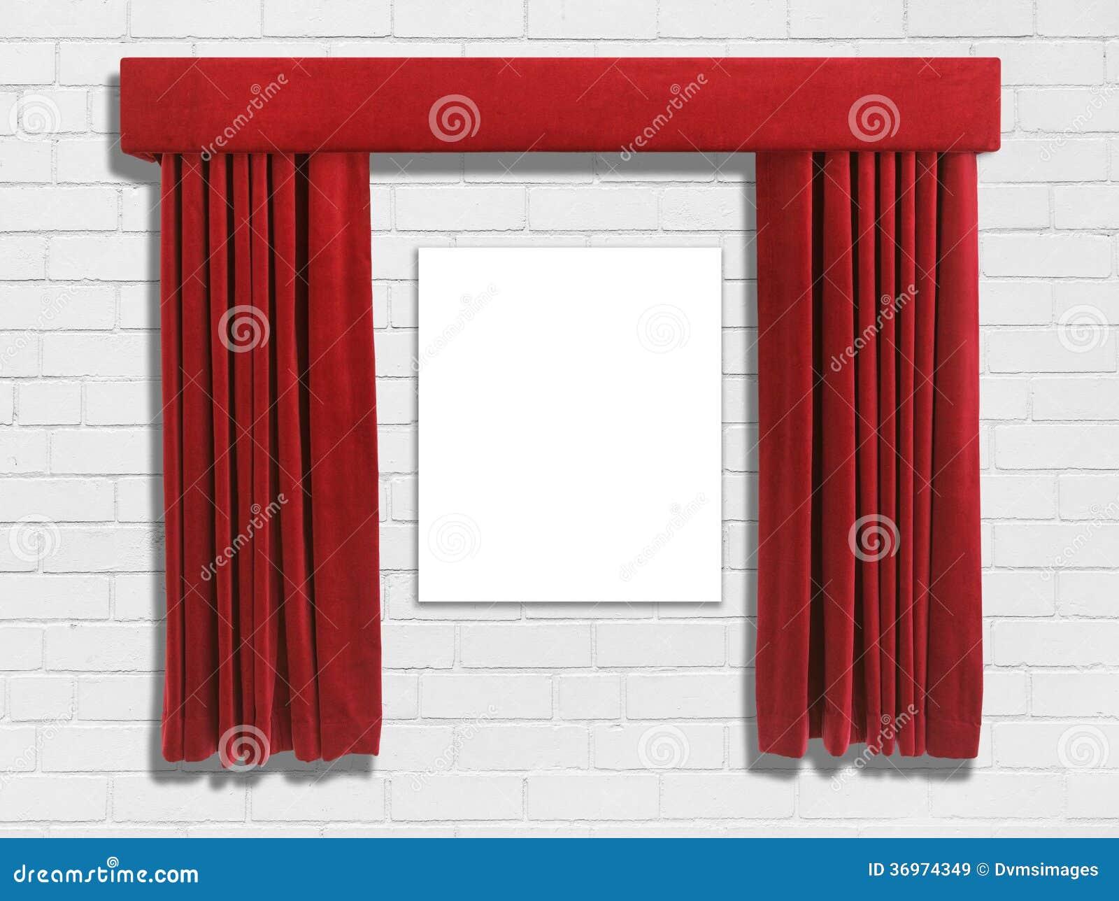 Czerwone Zasłony Obrazy Royalty Free - Obraz: 36974349