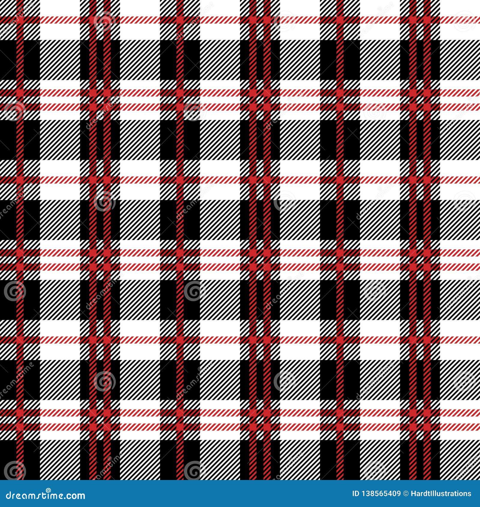 Czerwonej Bawoliej szkockiej kraty Bezszwowy wzór