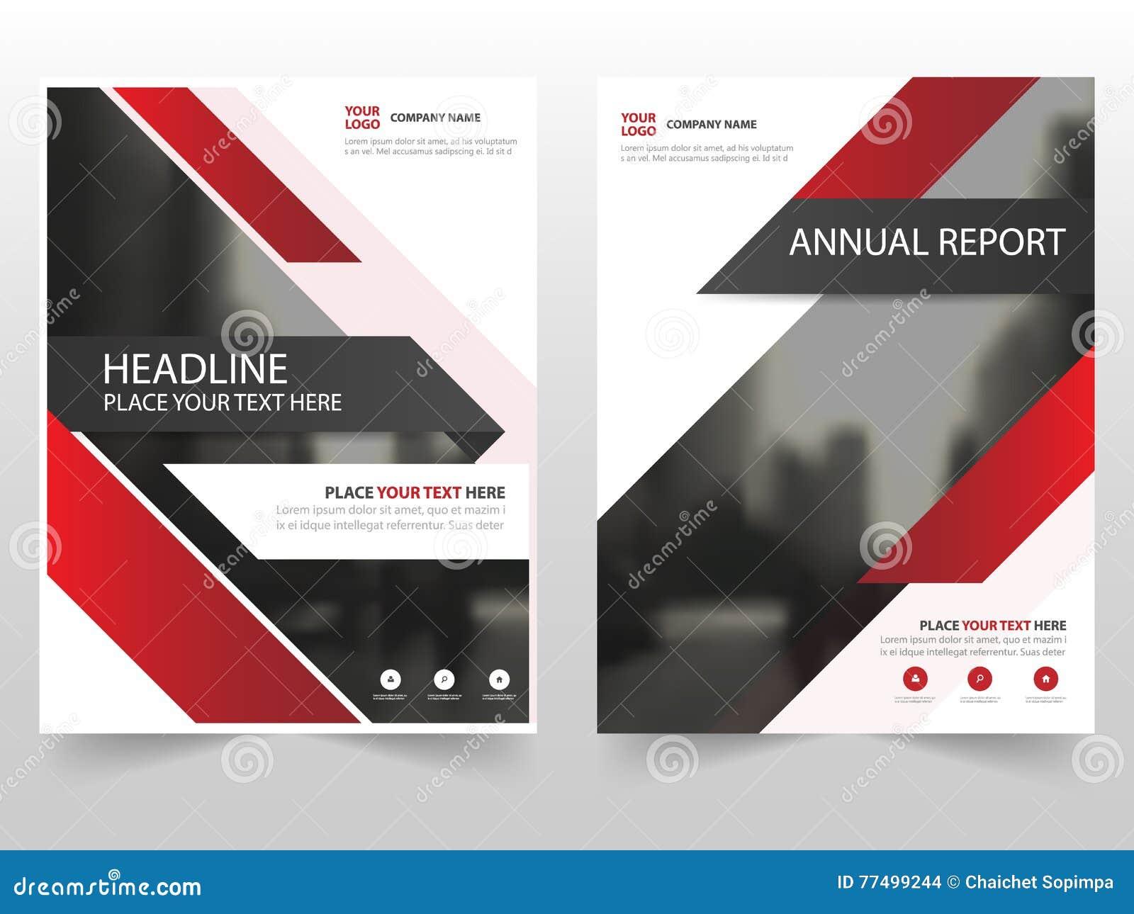 Czerwonej technologii broszurki ulotki ulotki sprawozdania rocznego szablonu biznesowy projekt, książkowej pokrywy układu projekt