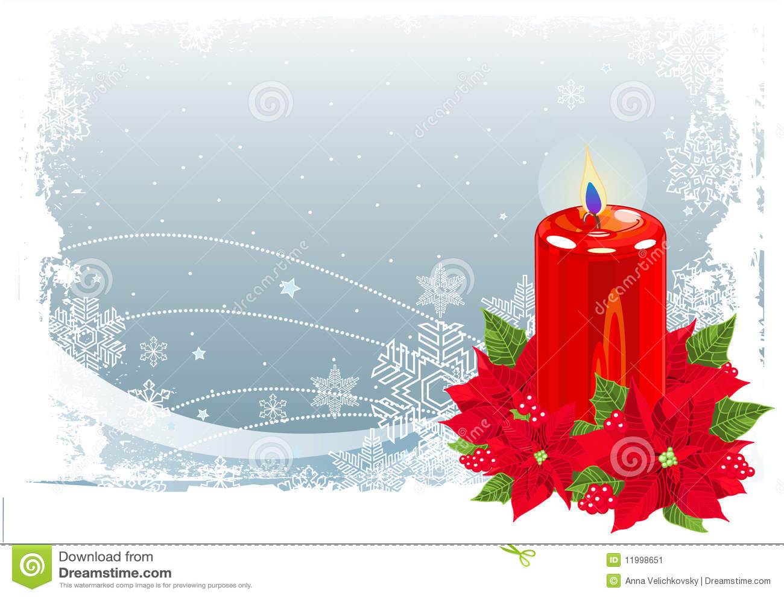 Czerwoni świeczek boże narodzenia