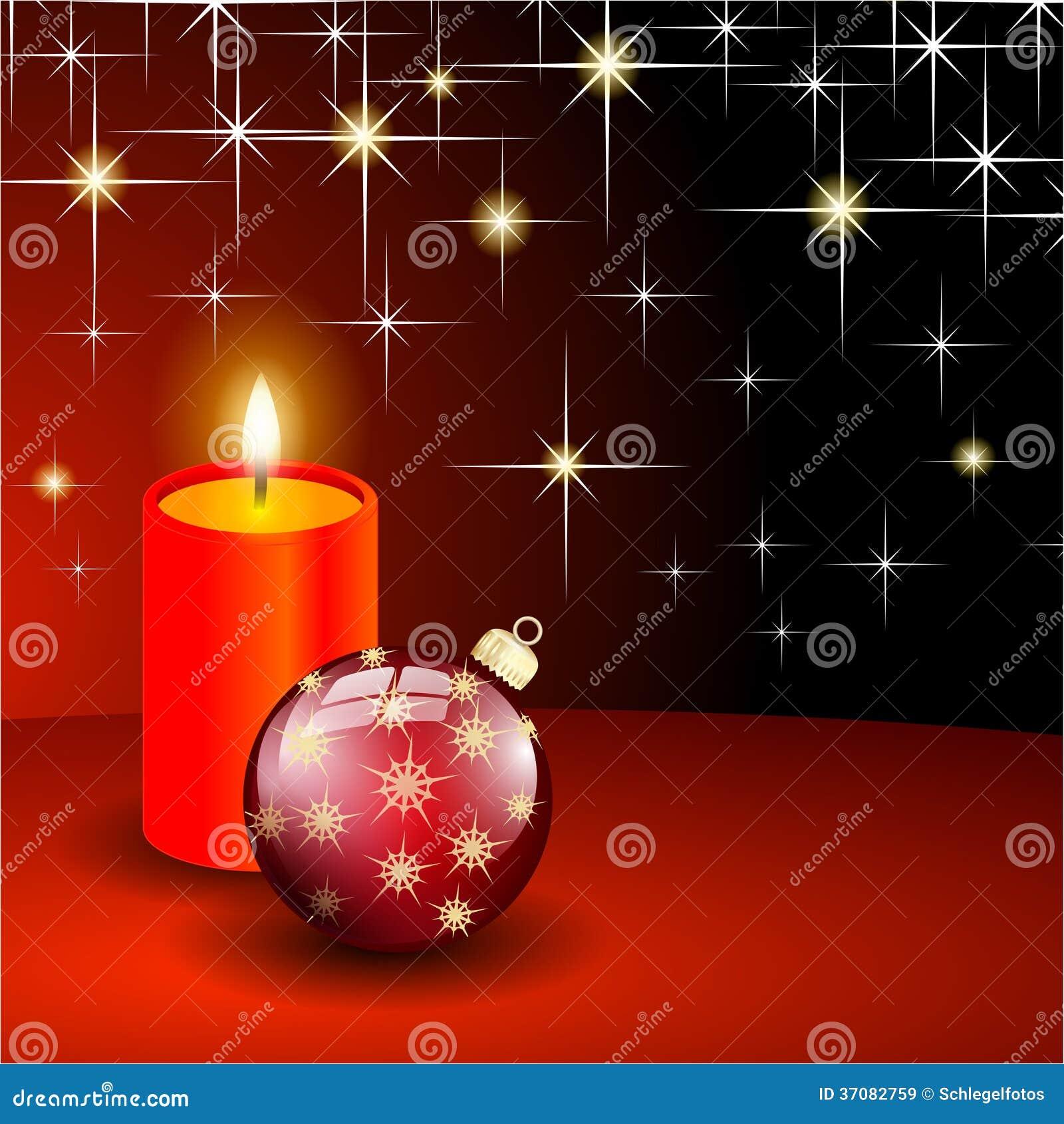 Download Czerwoni Boże Narodzenia Piłka I świeczka Ilustracji - Ilustracja złożonej z sfera, kolor: 37082759