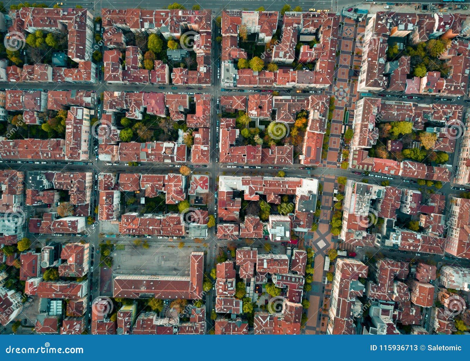 Czerwoni dachy Sofia Bułgaria