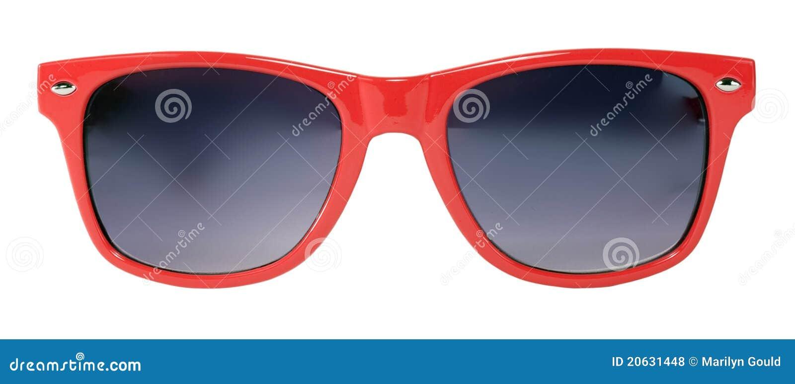 Czerwoni okulary przeciwsłoneczne