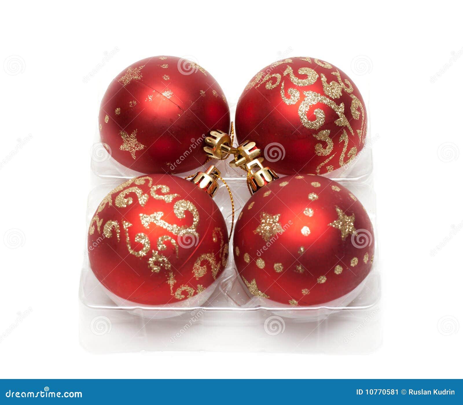 Czerwoni piłek cristmas