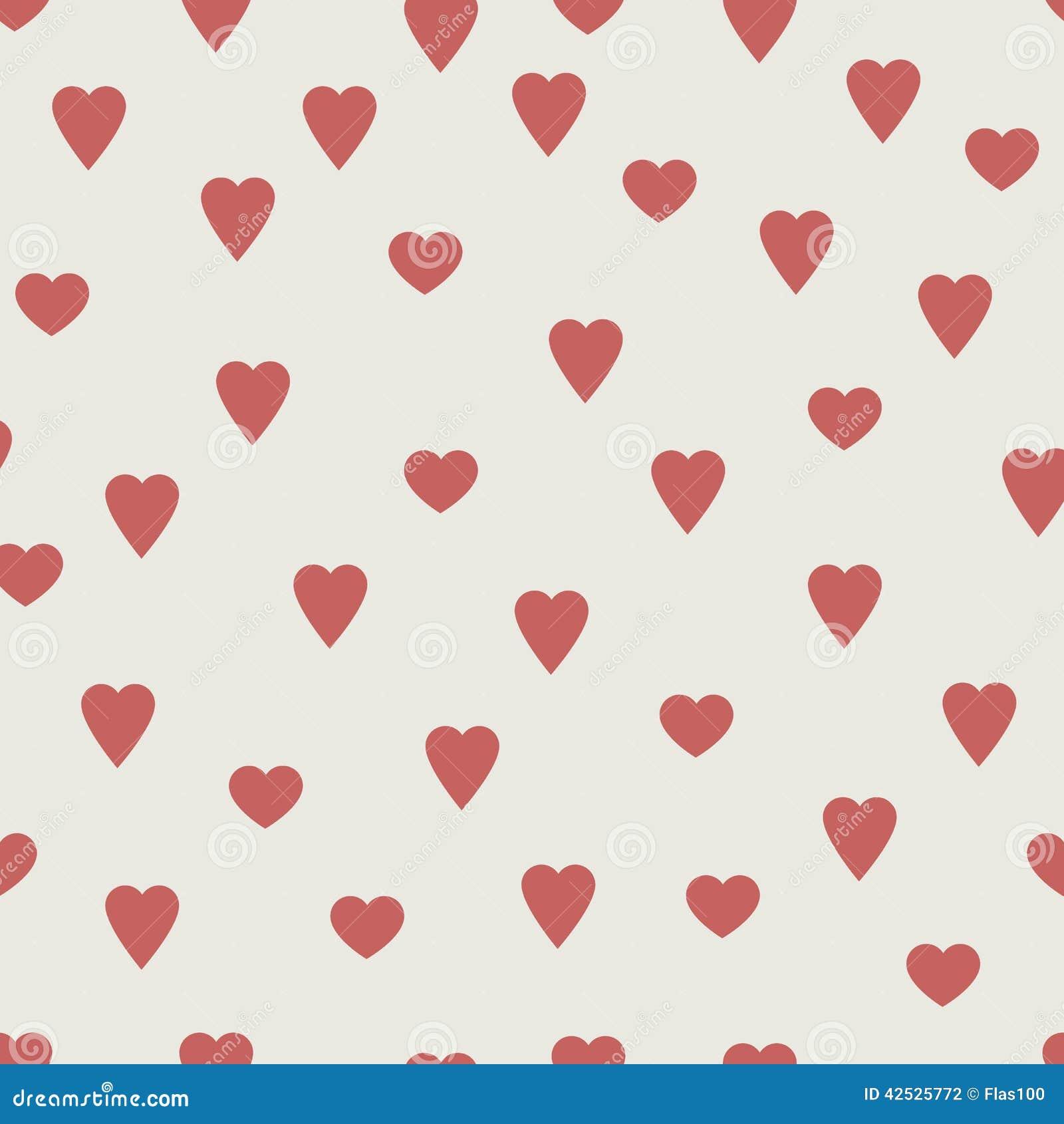 Czerwoni serca, bezszwowy wektoru wzór