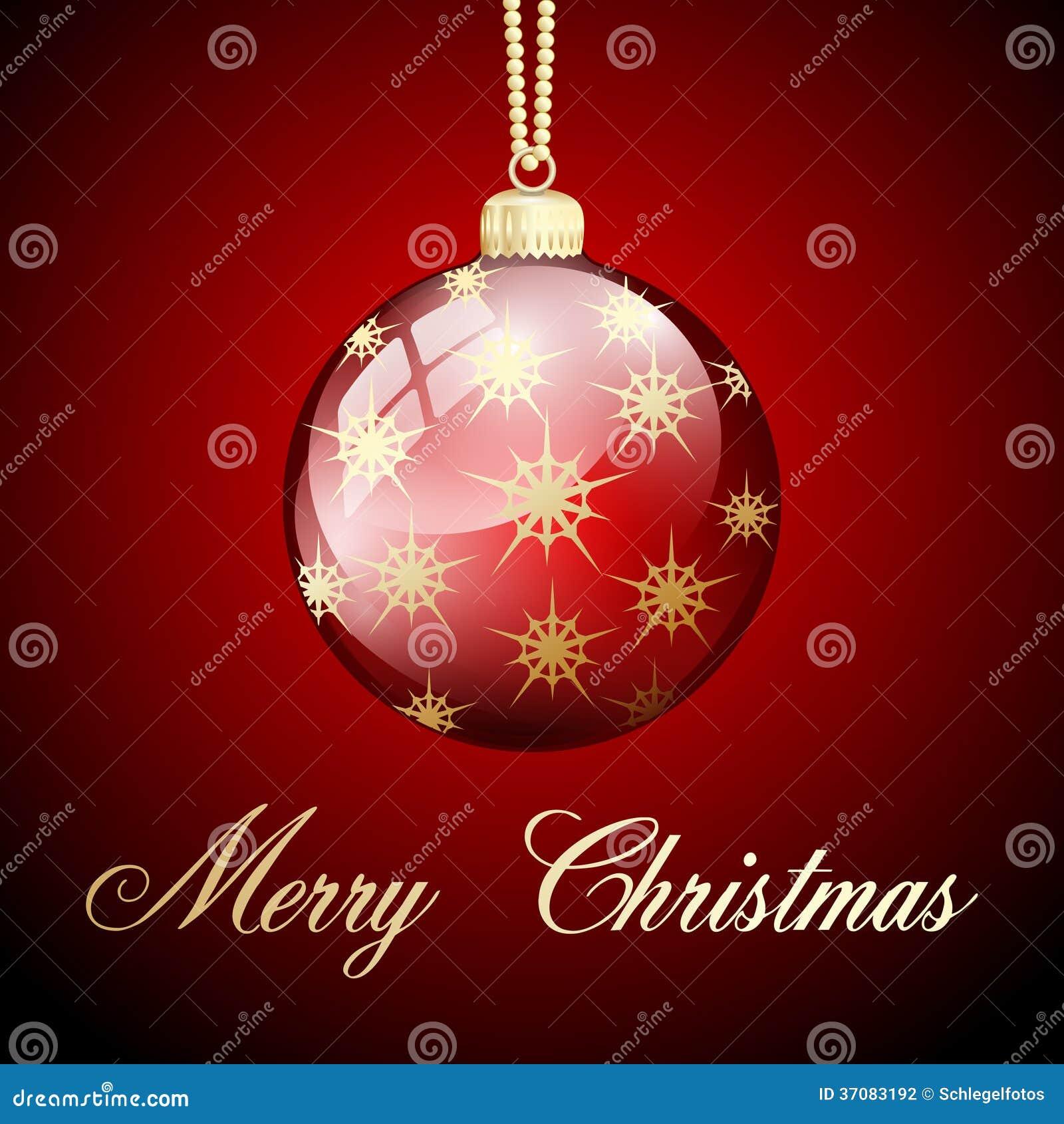 Download Czerwoni Złociści Wesoło Boże Narodzenia Balowi Ilustracji - Ilustracja złożonej z abstrakt, błyskotanie: 37083192