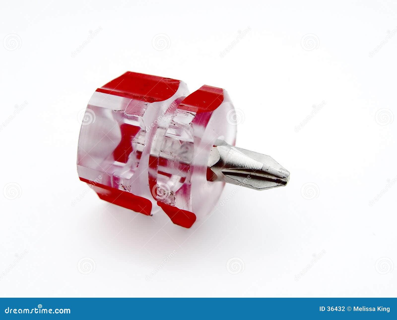 Czerwony śrubokręt