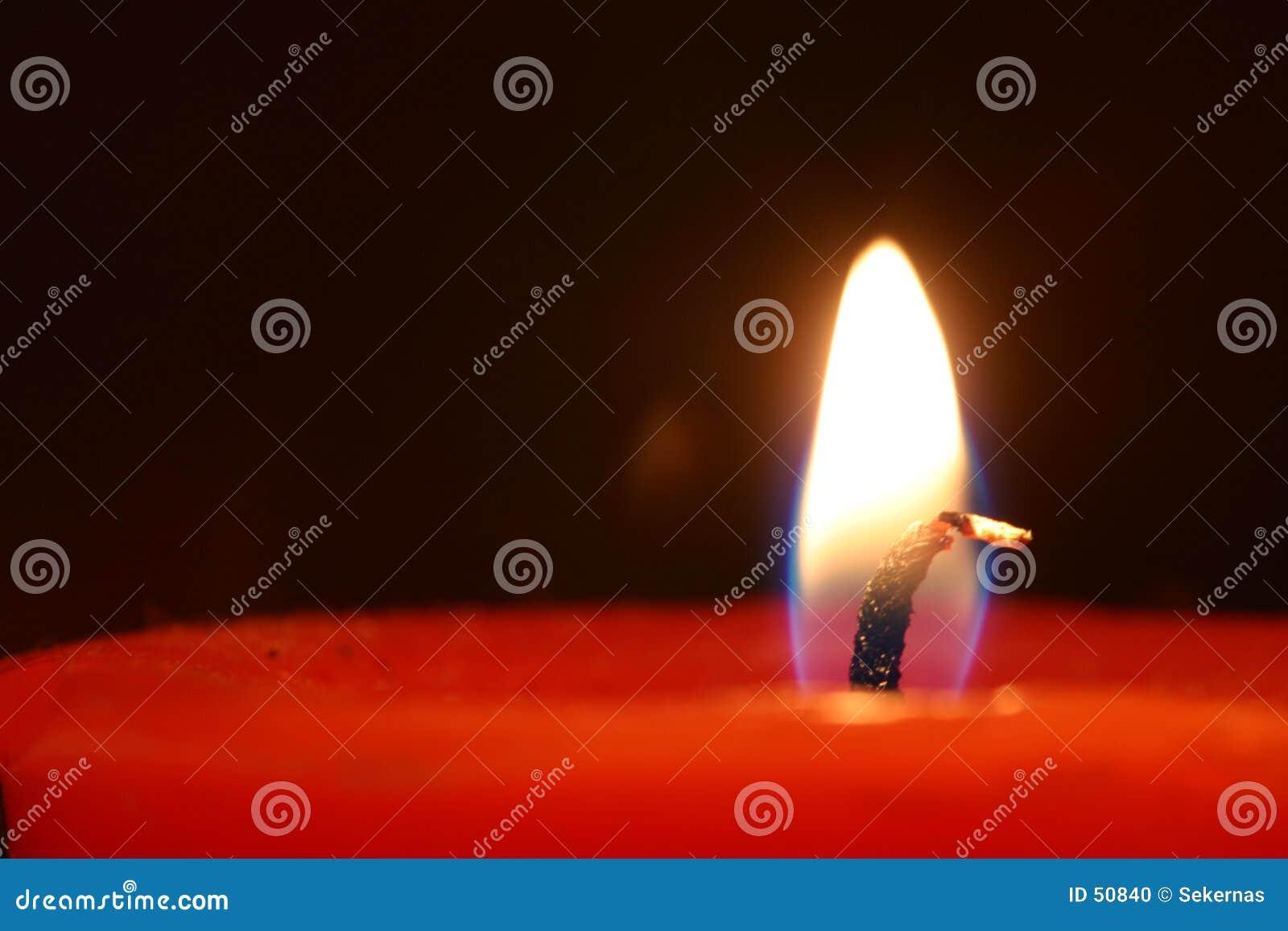 Czerwony świece.