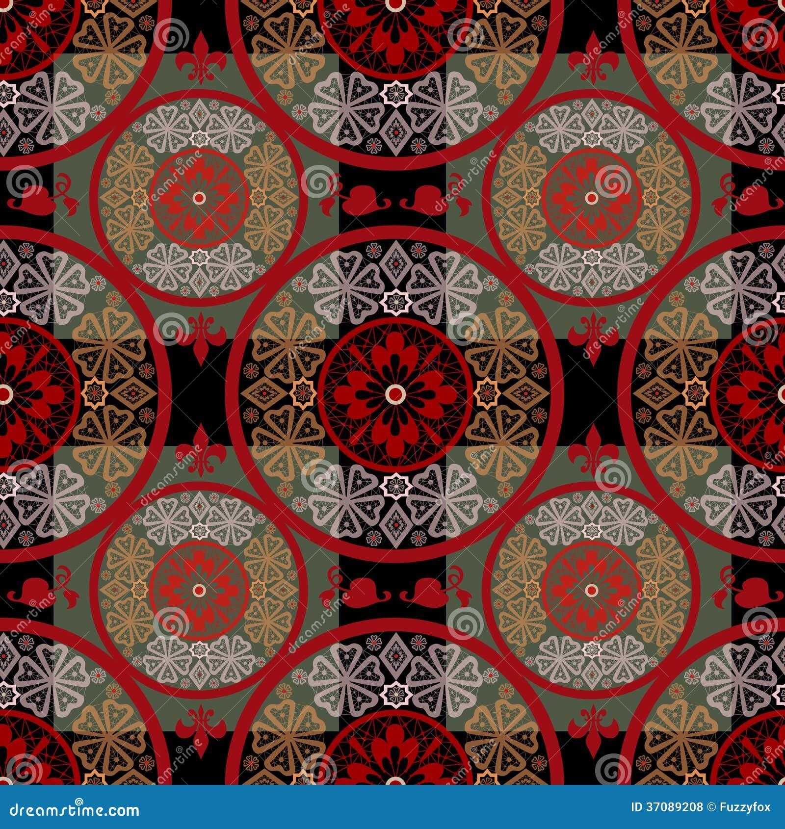 Download Czerwony Abstrakcjonistyczny Bezszwowy Koronka Wzoru Tekstury Tło Ilustracji - Ilustracja złożonej z dekoracyjny, kocowanie: 37089208