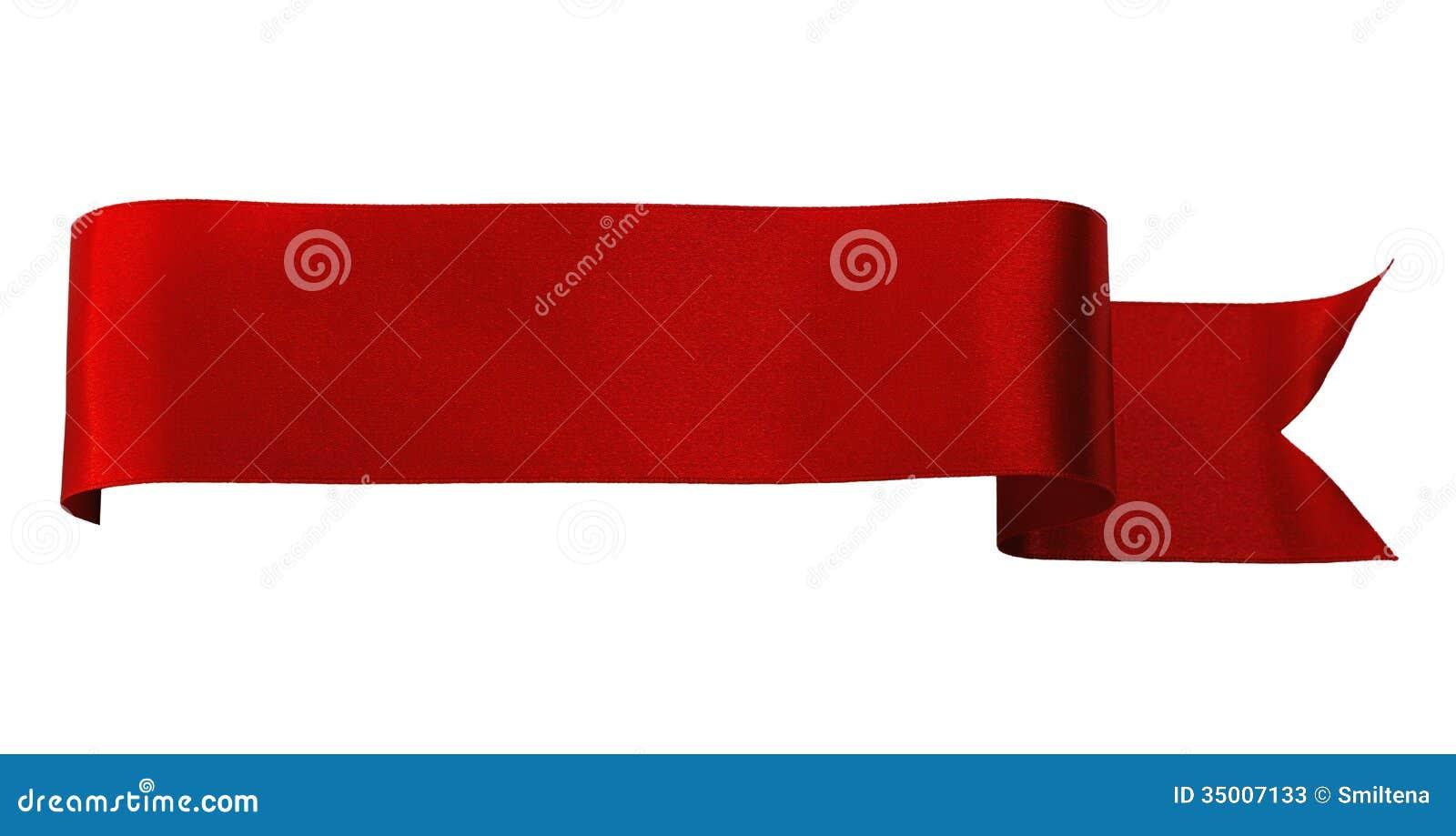 Czerwony atłasowy faborek