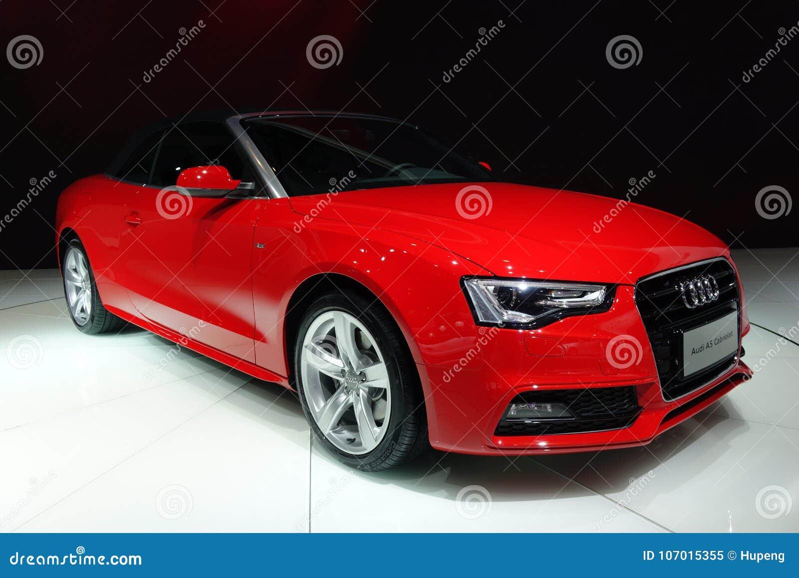 Czerwony Audi A5 Kabriolet Obraz Editorial Obraz Złożonej Z Post